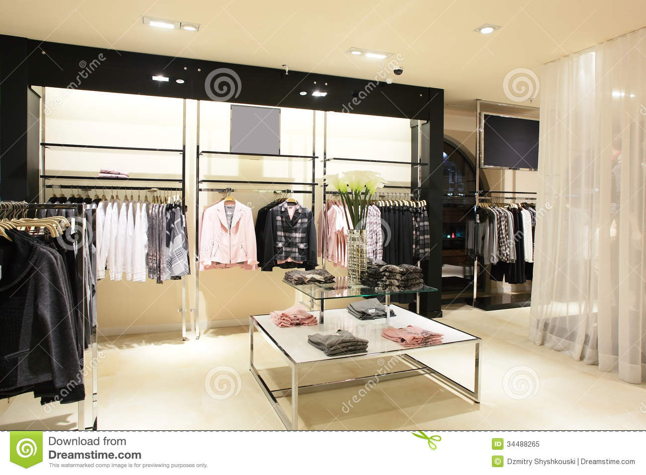 5ca00f146bab European Brand New Clothes Shop Stock Image - Image of city ...