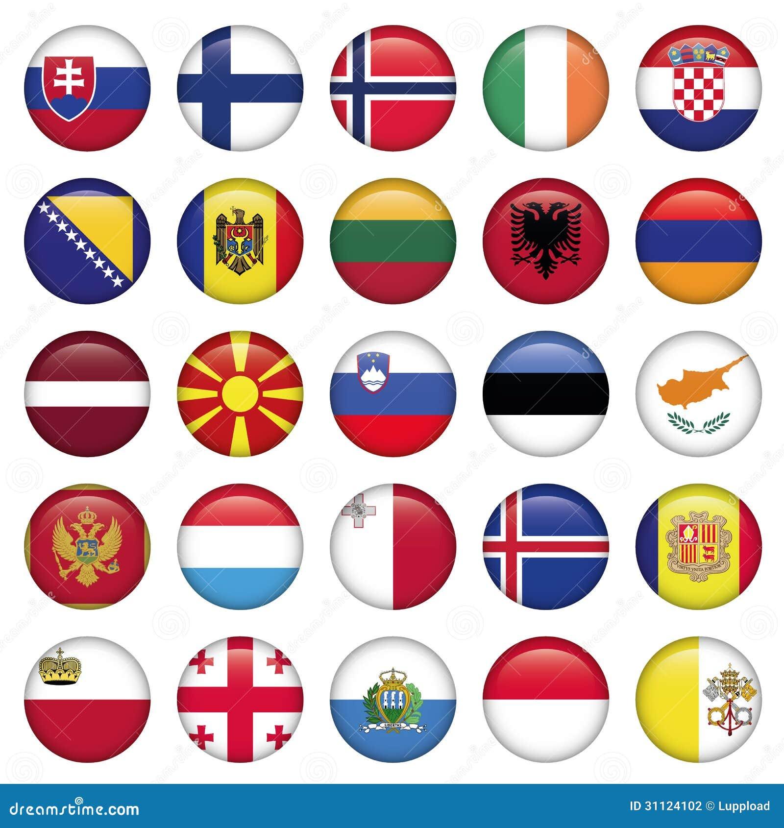 Andorra Flag Round