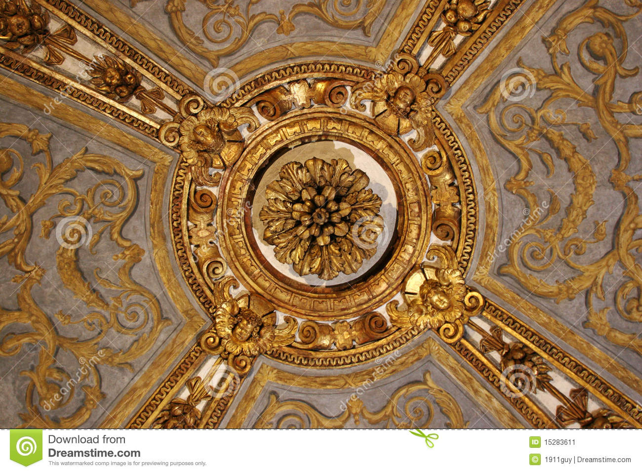 European ceiling decorations stock image image 15283611 for Ceiling decoration ideas