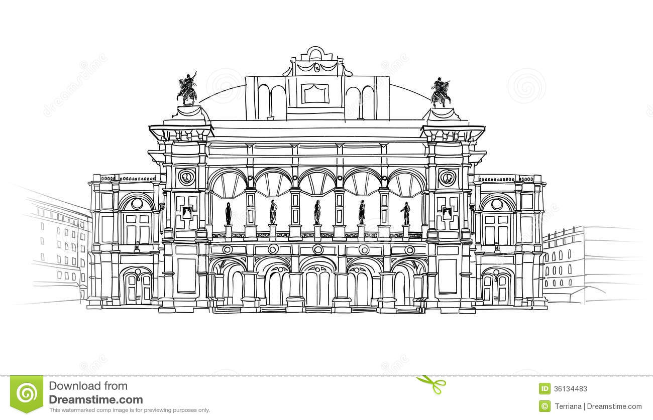 Draw A Houseplan European Cities Landmark Vienna State Opera House