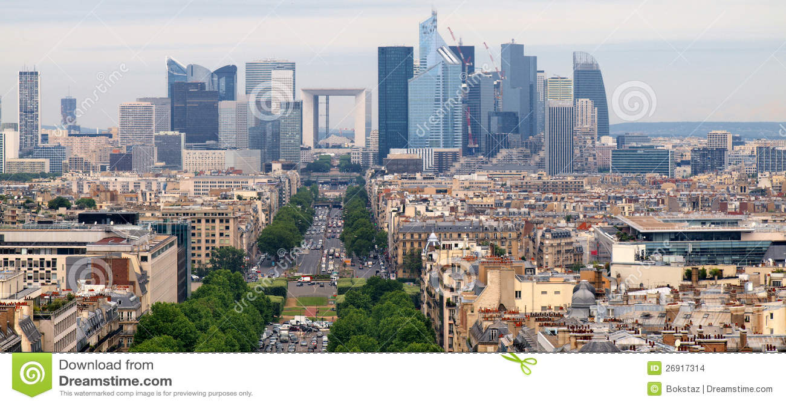 European Cities Life. Skyscrapers Of Paris City Stock ...