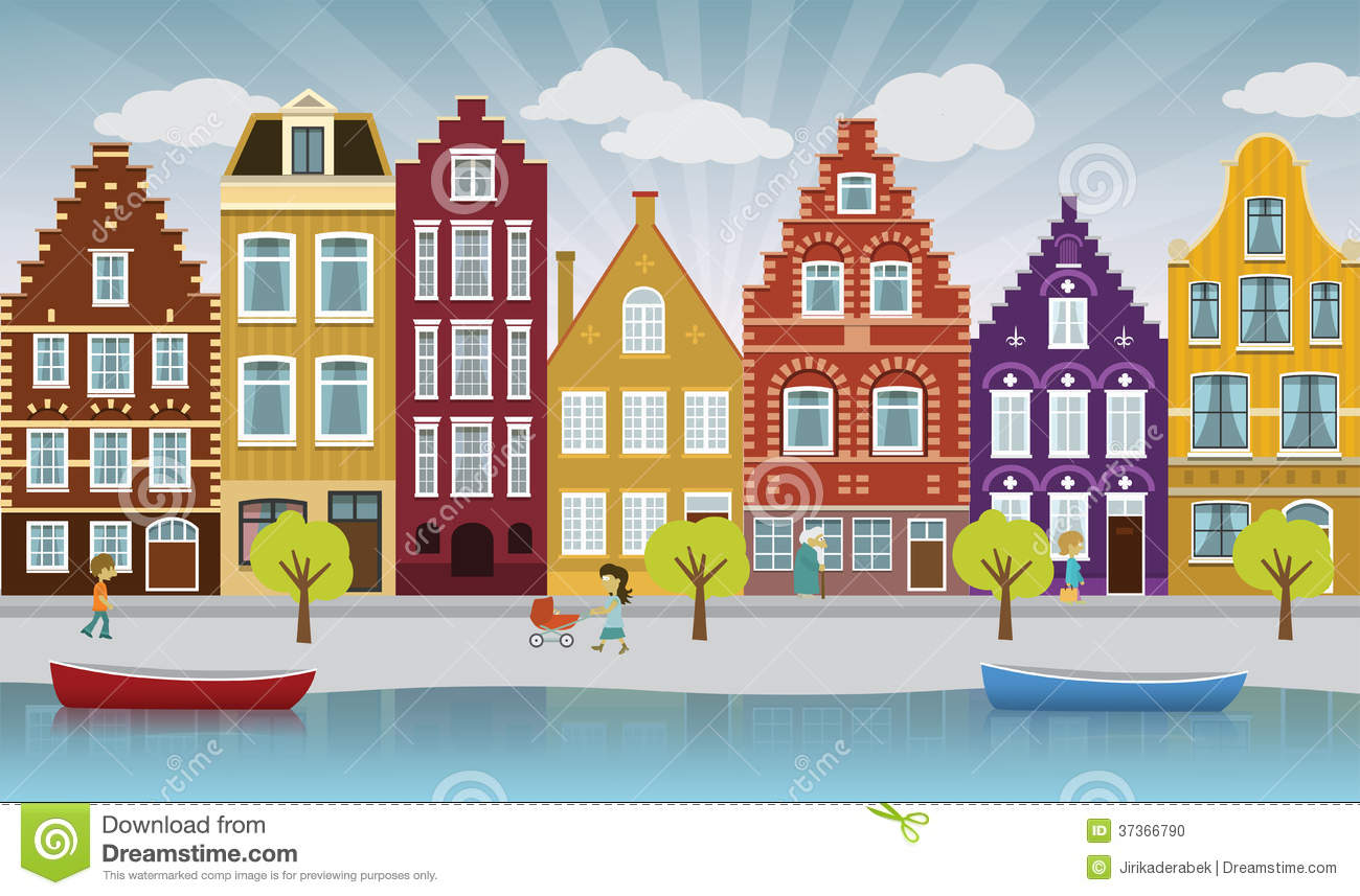 Stock Photo European City Illustration Image37366790 on traditional apartment design