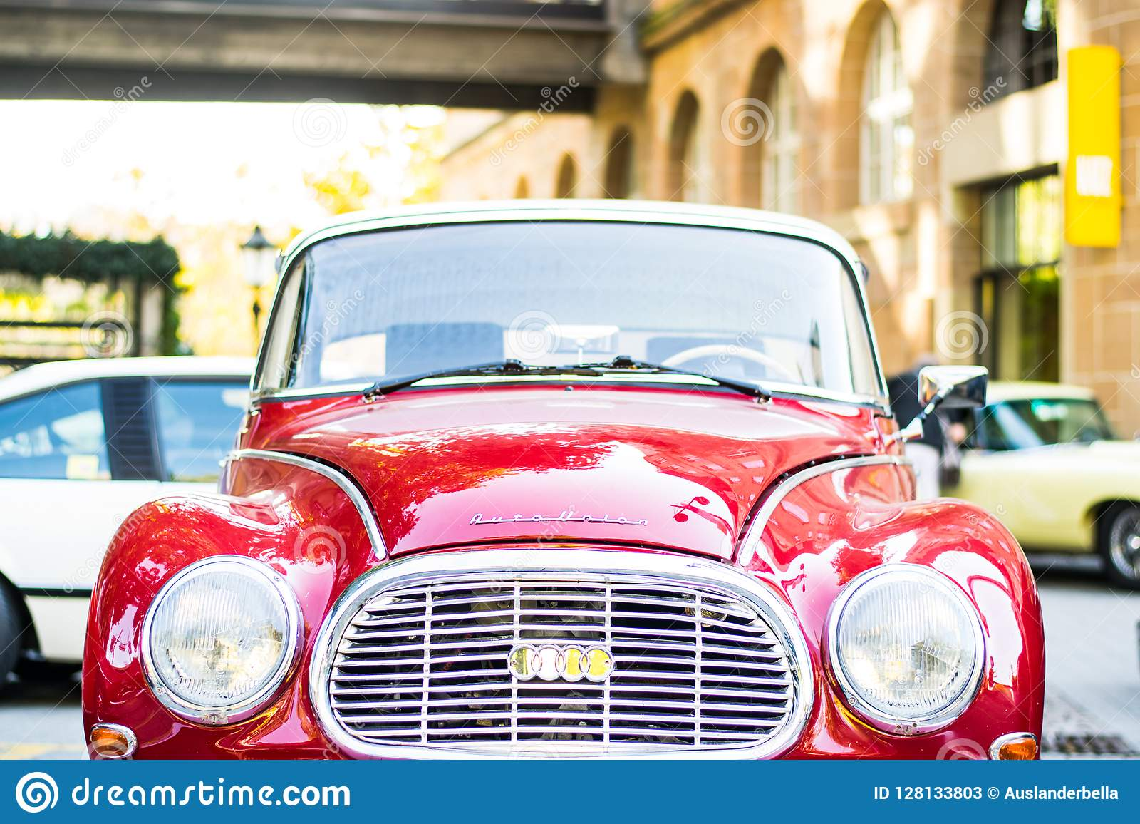 European Classic Cars - Old Timer Audi On The Street Editorial Stock