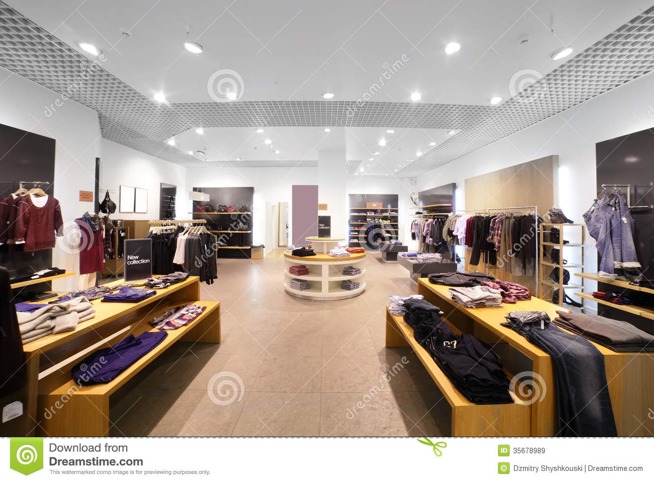Royalty Free Stock Images: European clothing store with huge