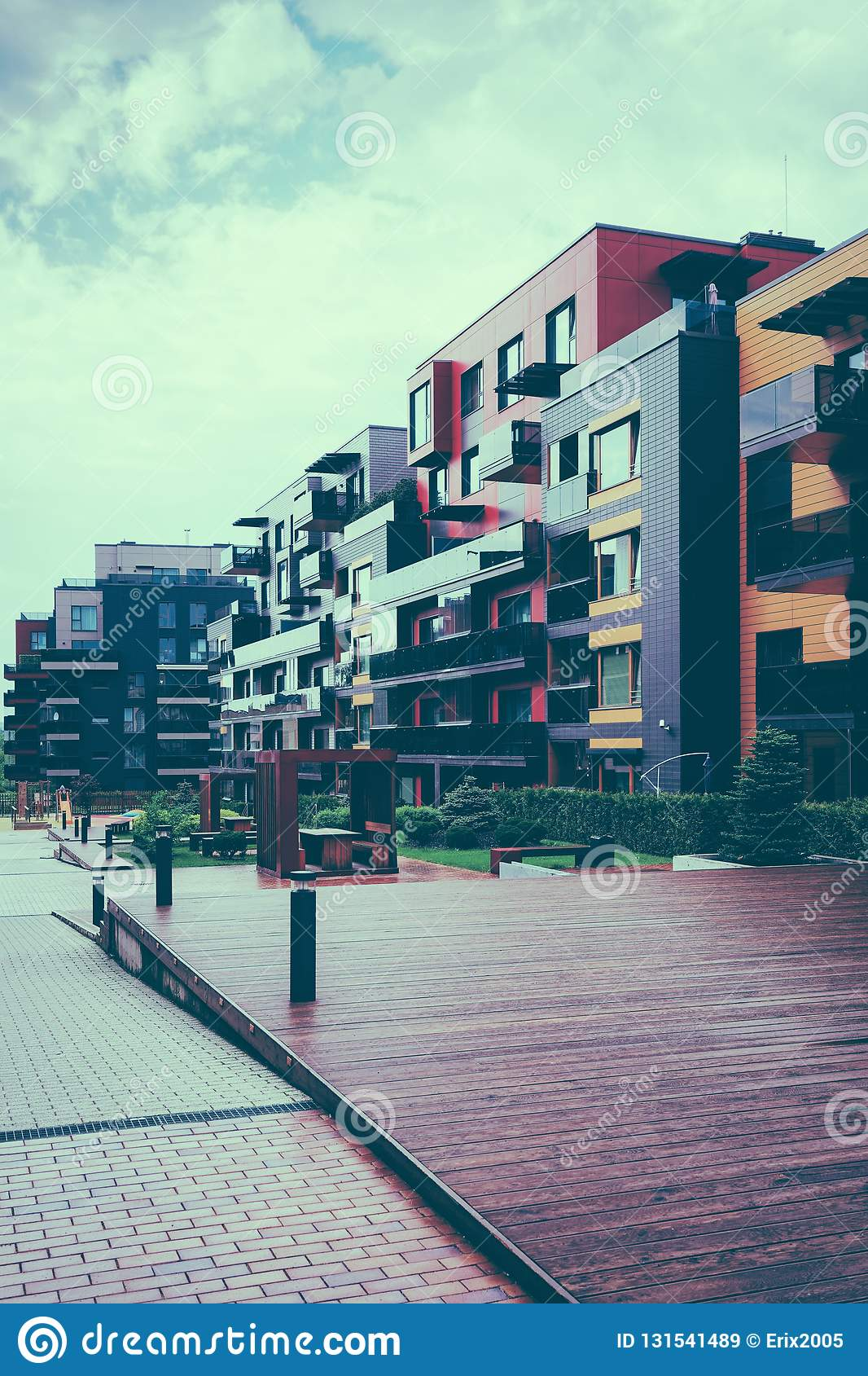 European Complex Of Residential Buildings Stock Image Image Of Exterior Design 131541489