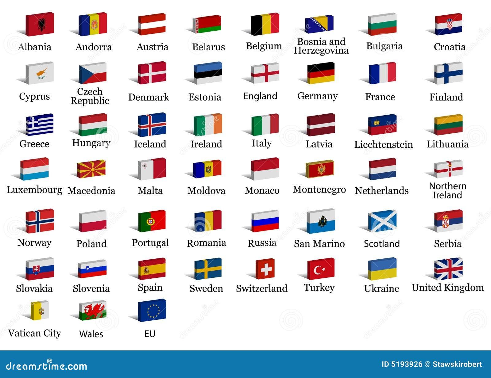 какя страна есть на букву д в европе