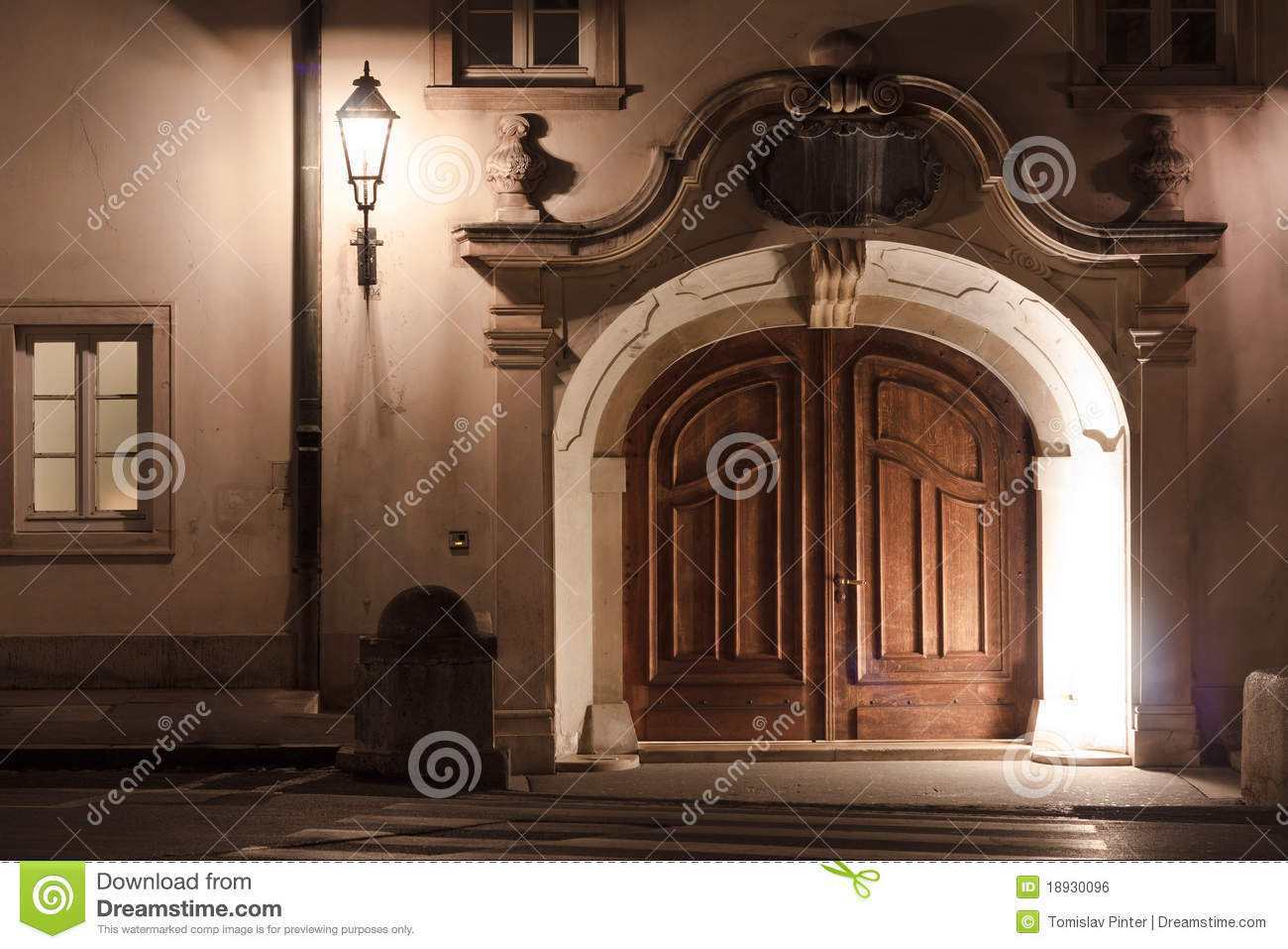 European doors at night & European doors at night stock photo. Image of controlling - 18930096