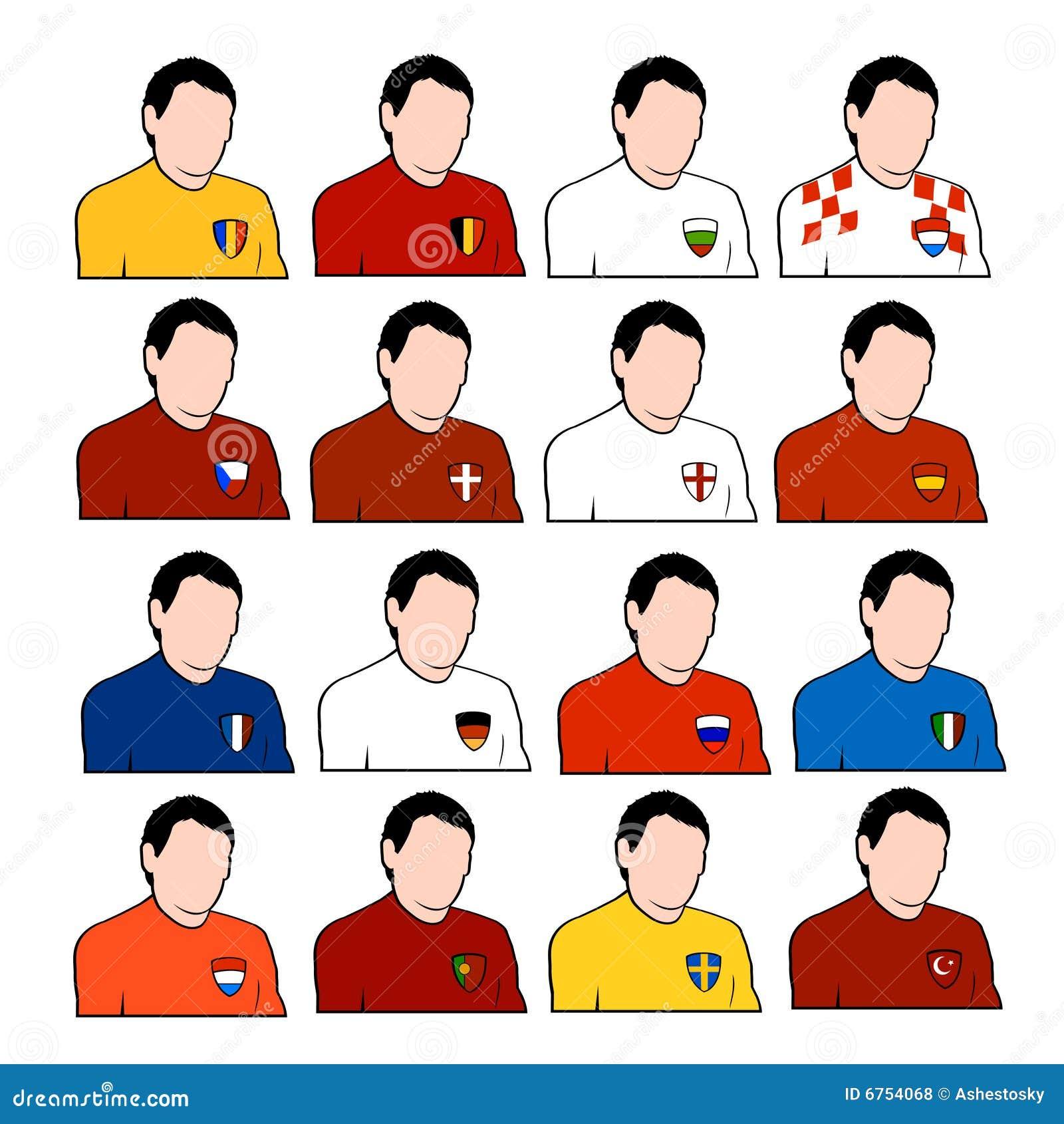 c5c2ca611 European Football National Teams Stock Vector - Illustration of best ...