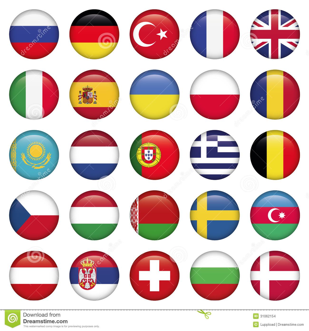 european icons round flags stock vector  illustration of