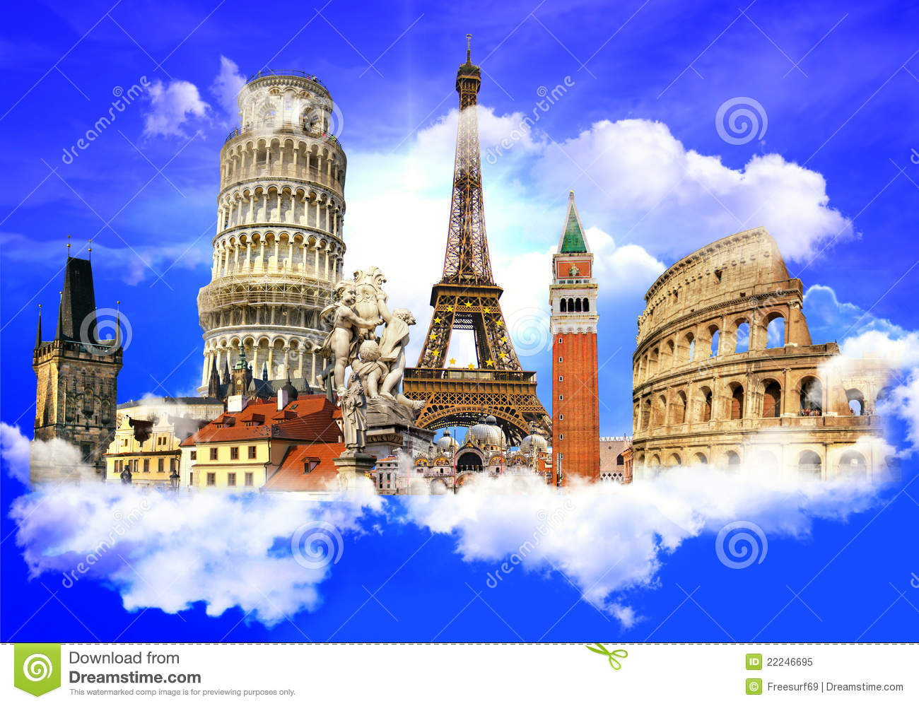 European Landmarks Royalty Free Stock Photo - Image: 22246695