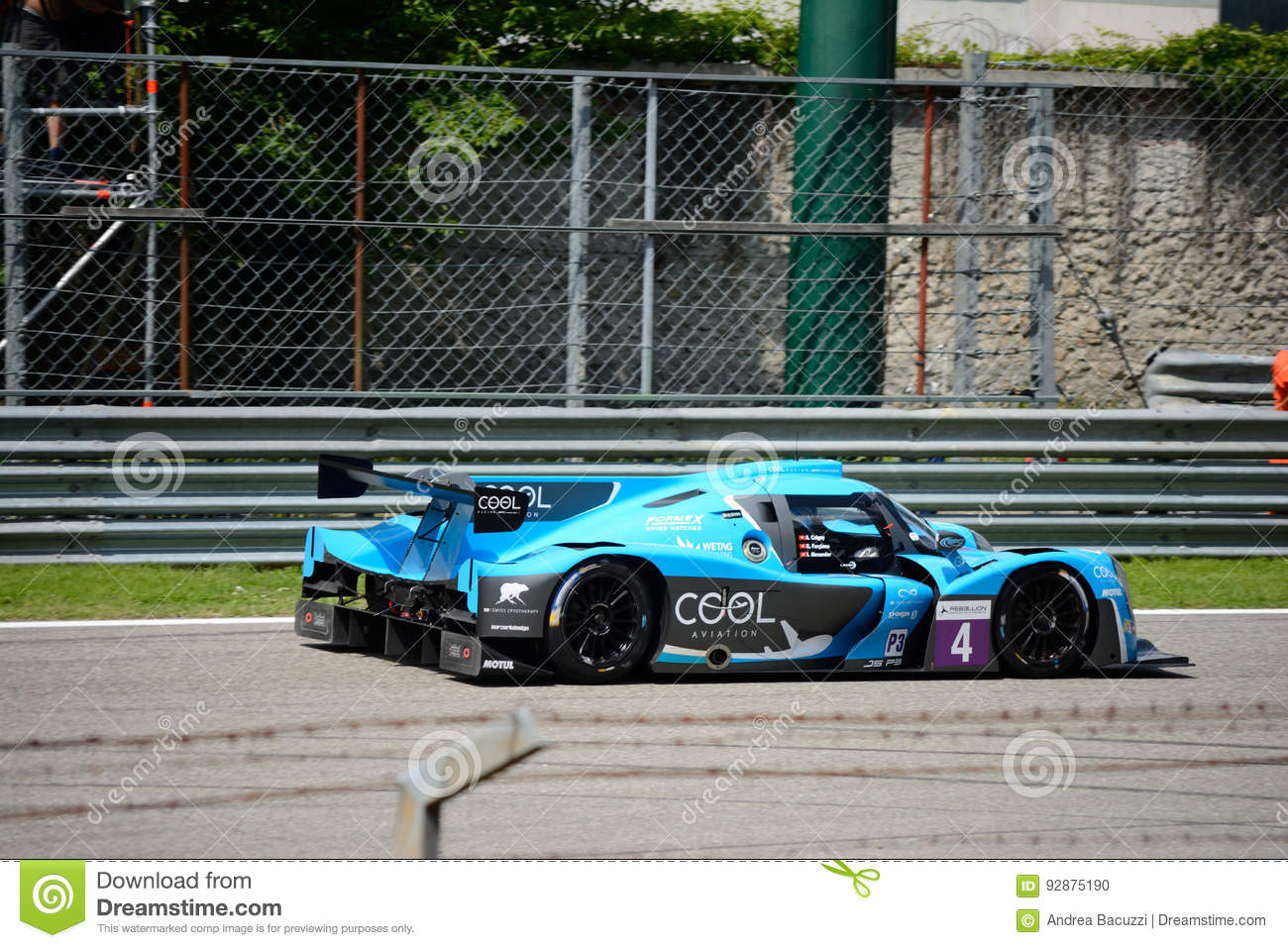 european le mans series sports prototype editorial image image of