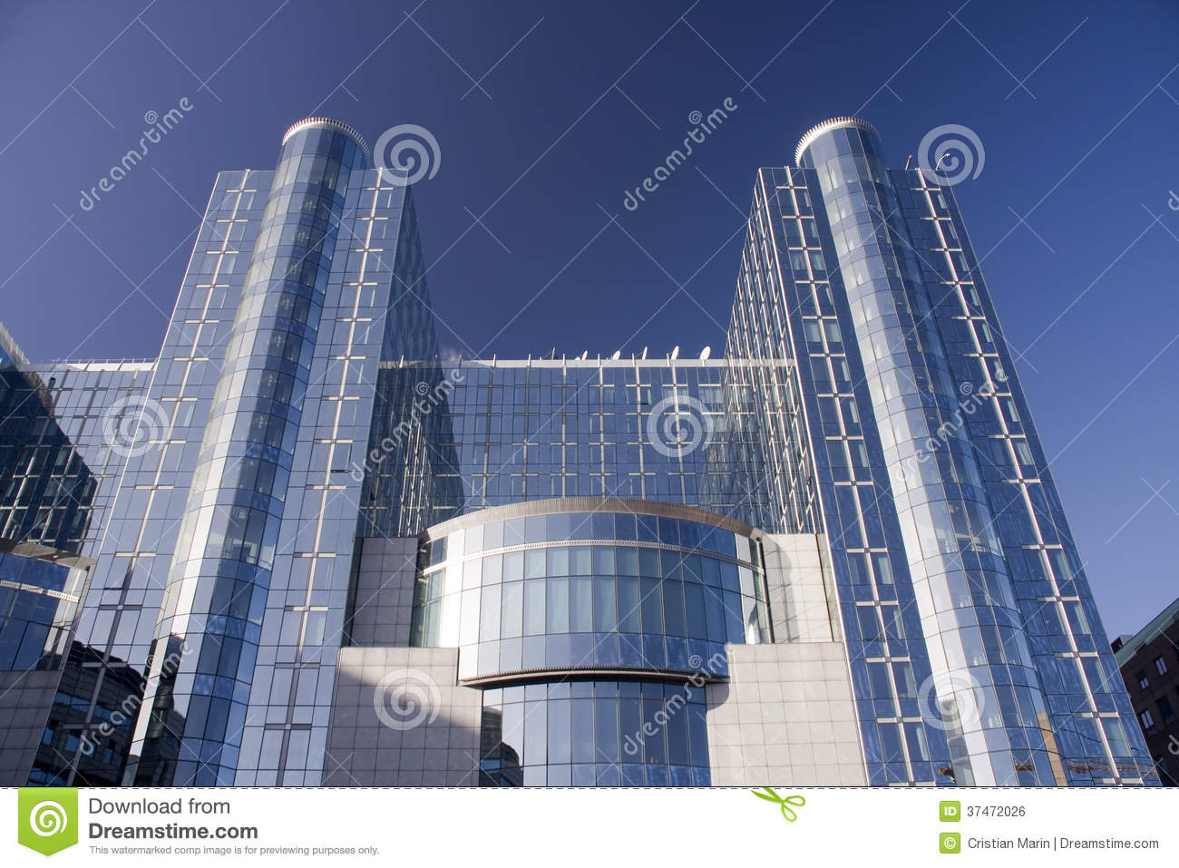 European Parliament Building In Brussels Royalty Free Stock Image ...