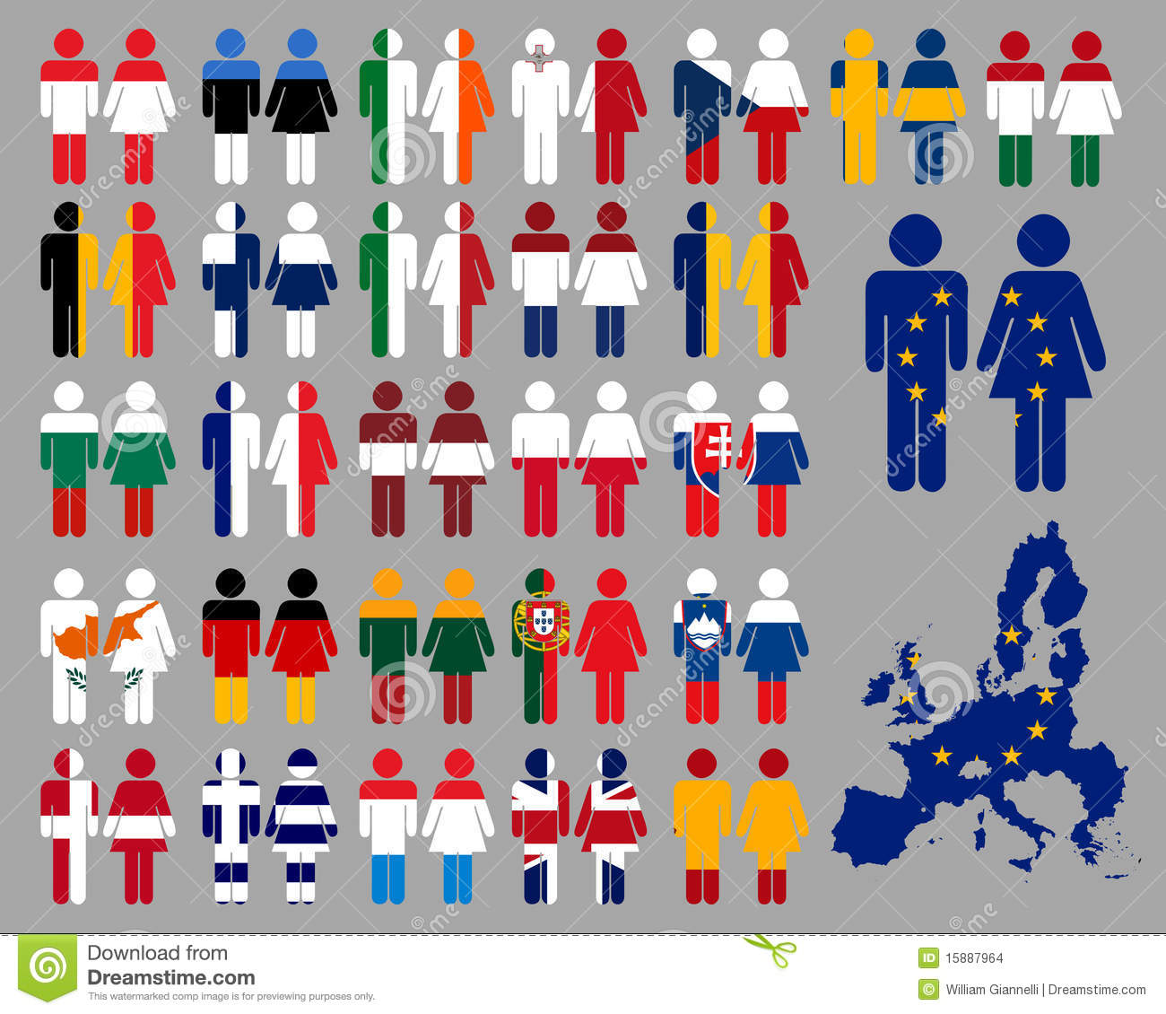 European People And Flags Stock Images Image 15887964