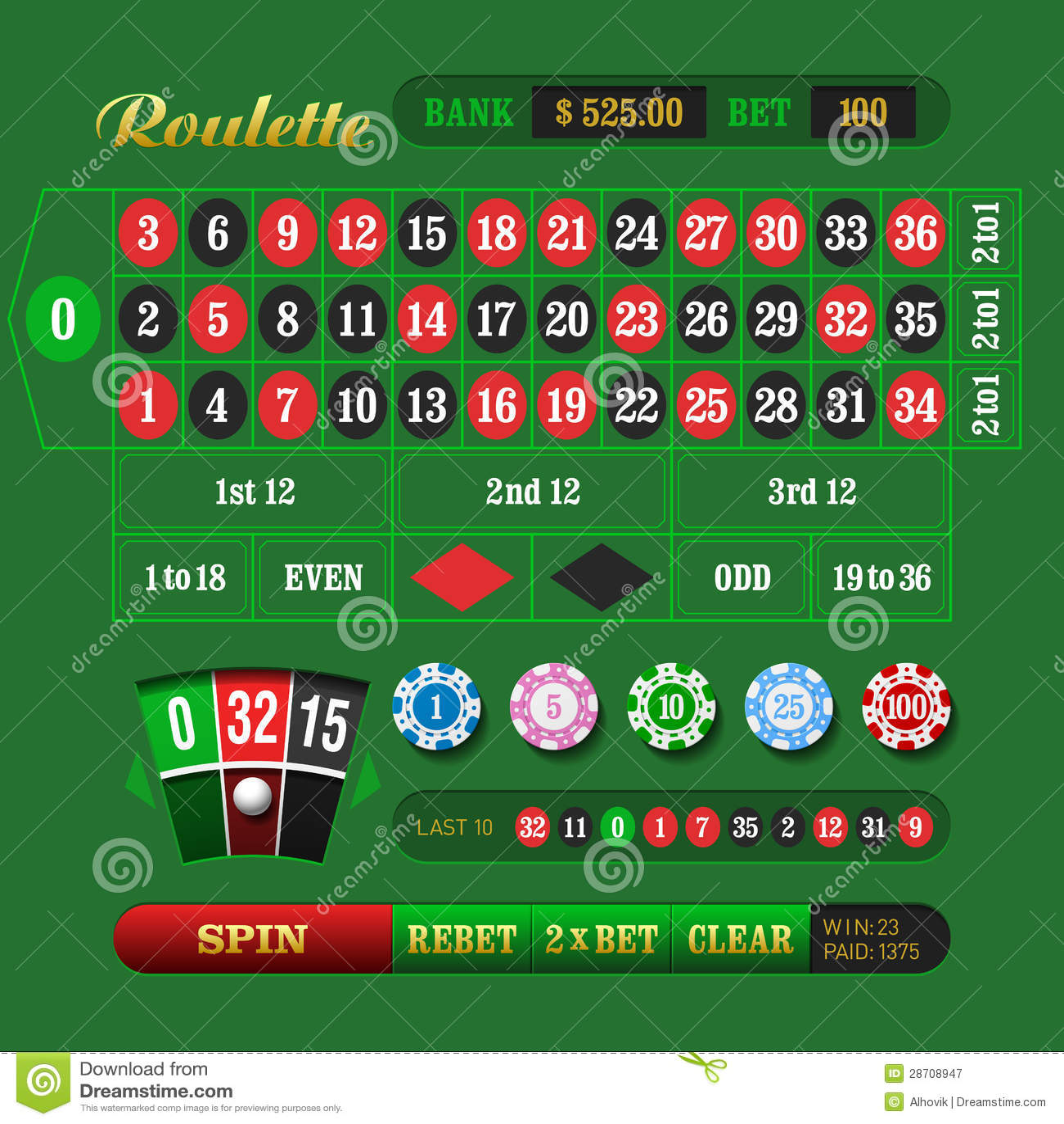 online free roulette european