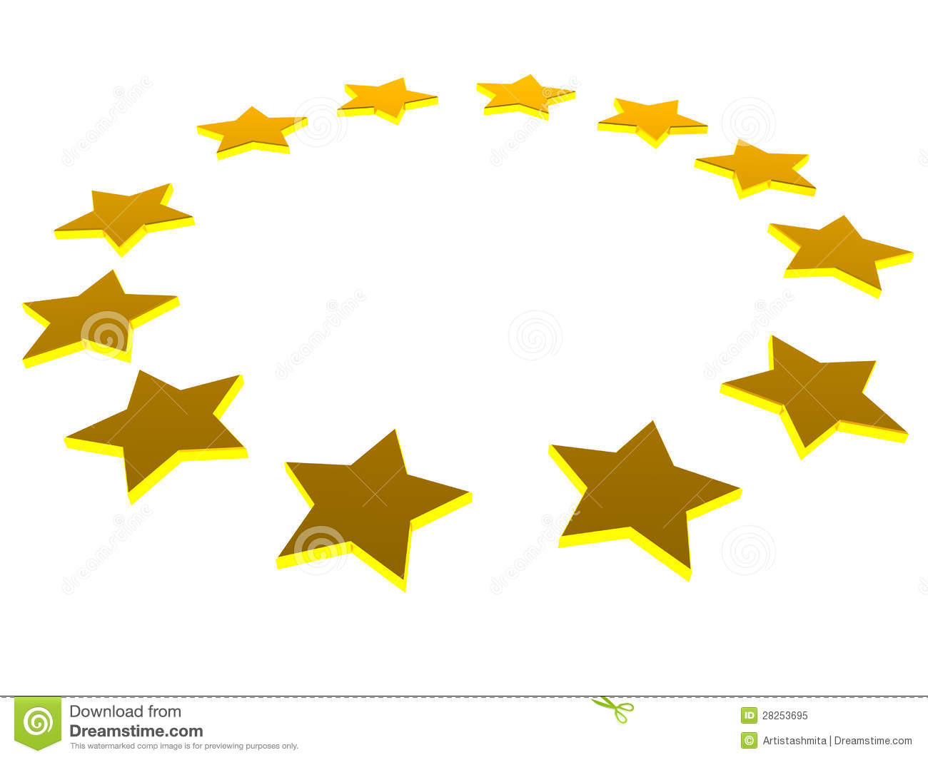 European Stars Royalty Free Stock Photo - Image: 28253695