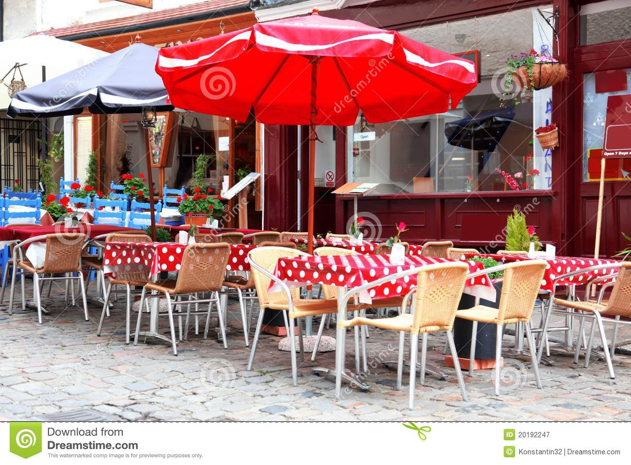 European street cafe stock image. Image of road, classical   20192247