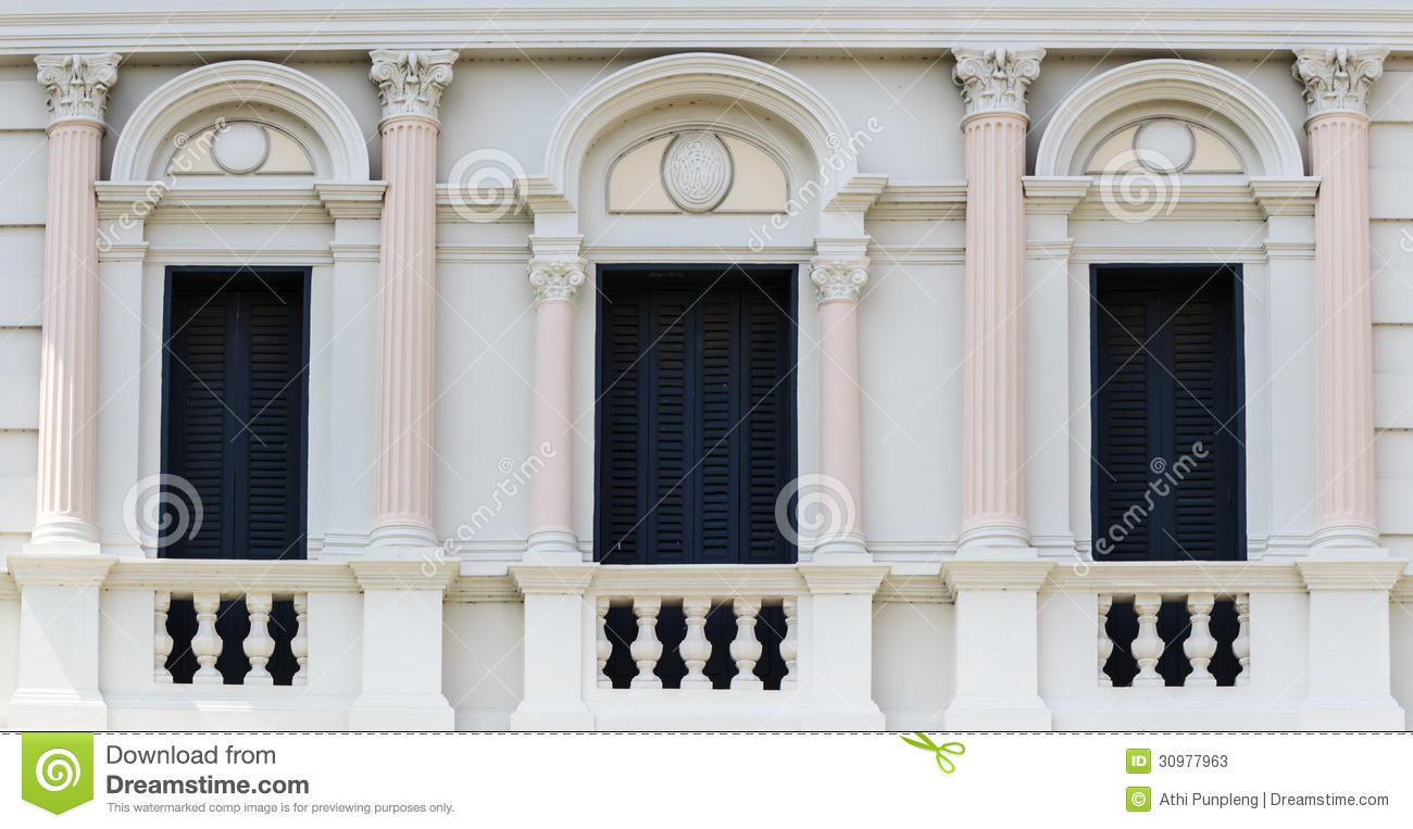 Colonial White House With Shutters