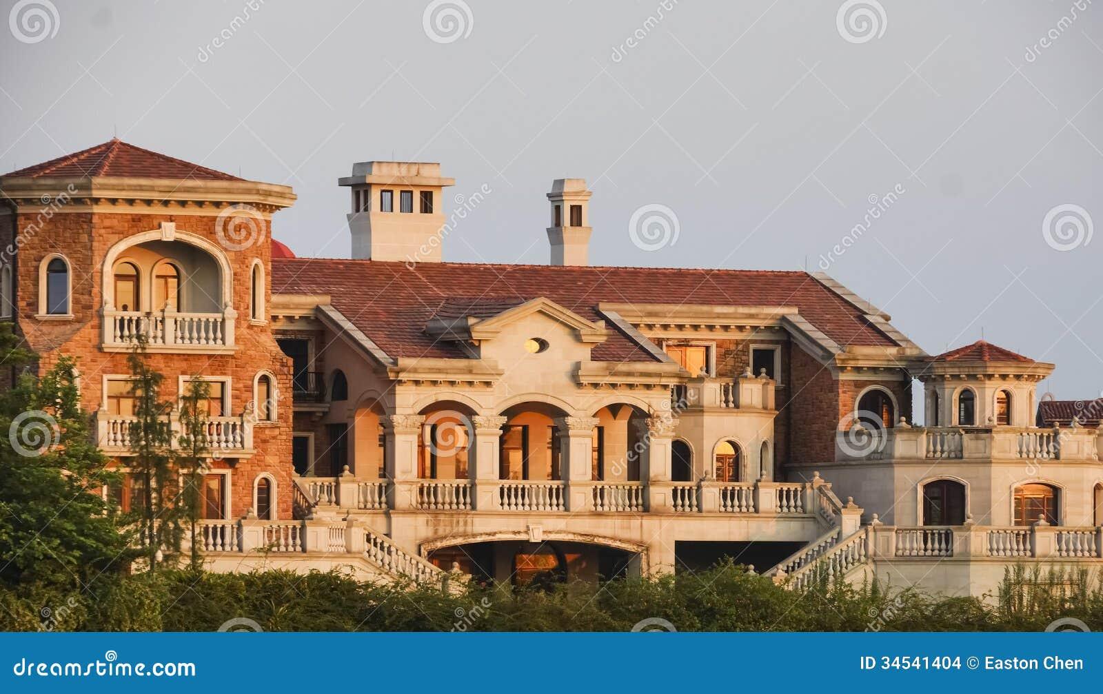 European Style Columns : European style architecture stock photo image