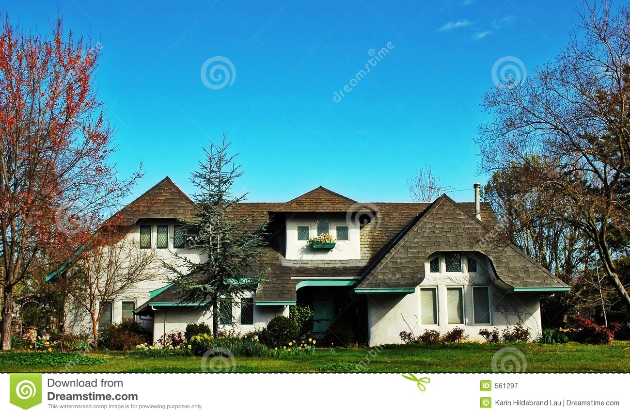 European Style Home Royalty Free Stock Photography Image