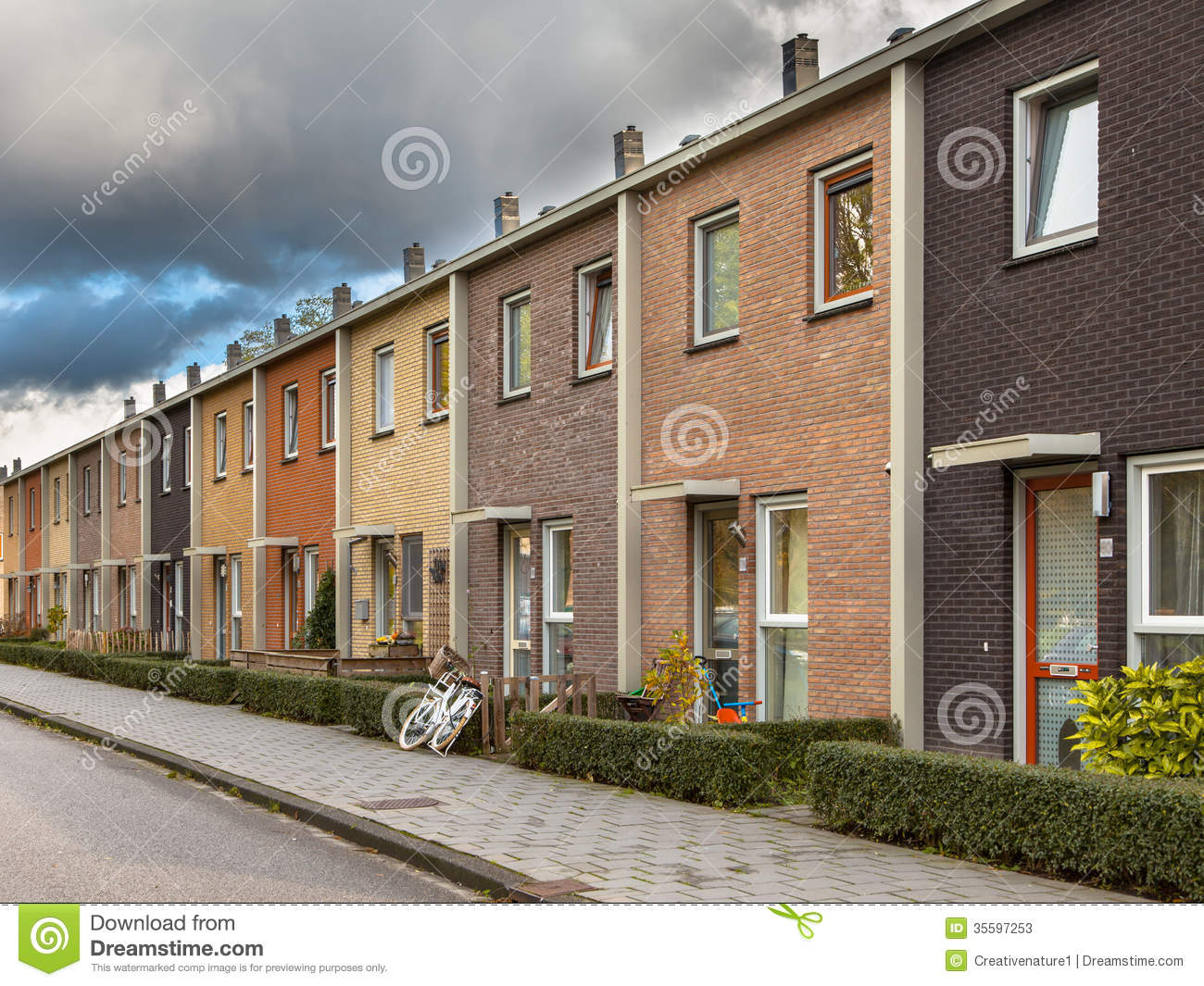 European Style Terrace Houses Stock Image Image 35597253
