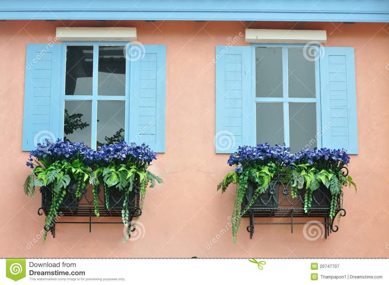 European Style Window Royalty Free Stock Photography