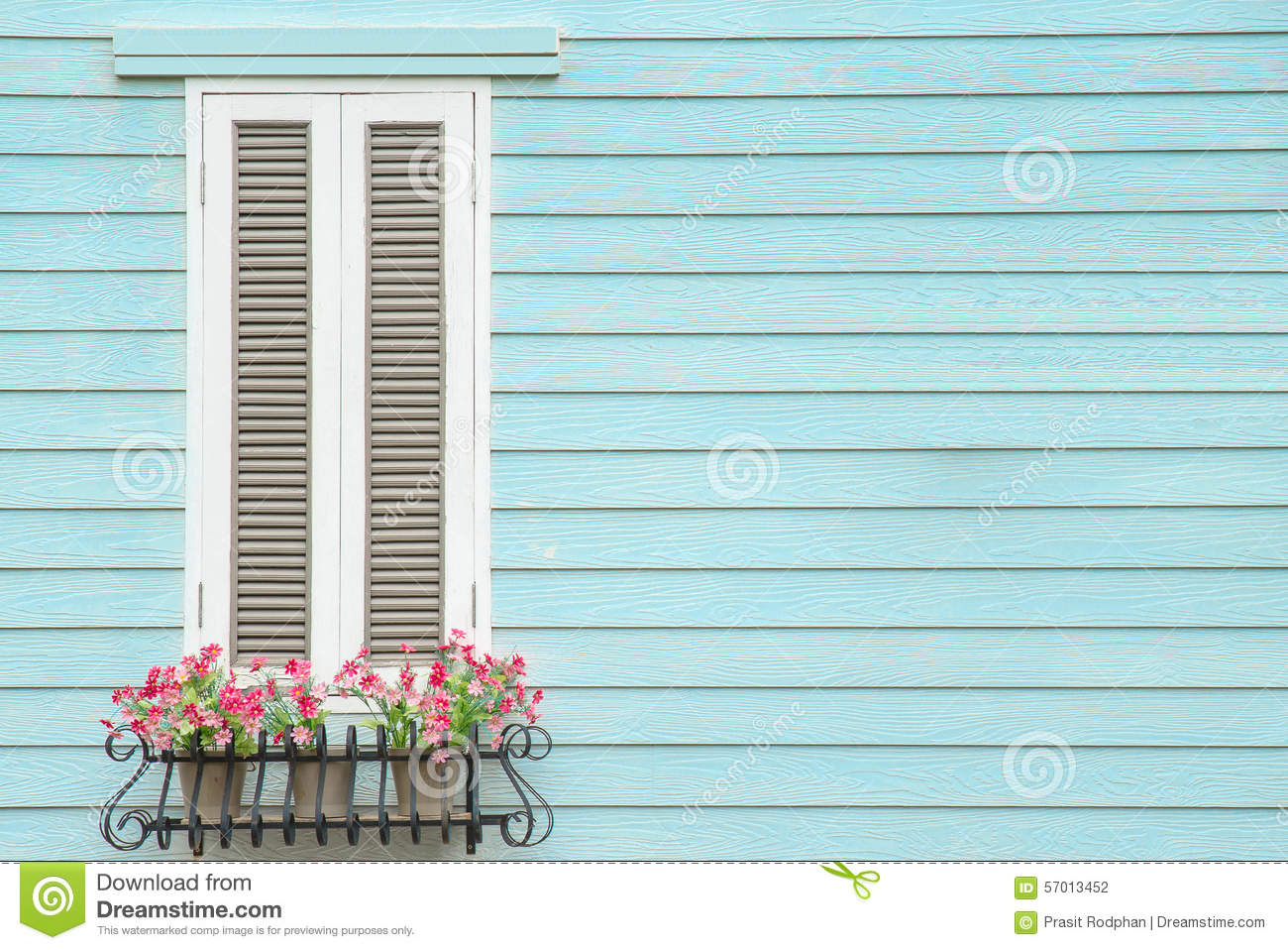 Flower box on window sill in old europe royalty free stock for European style windows