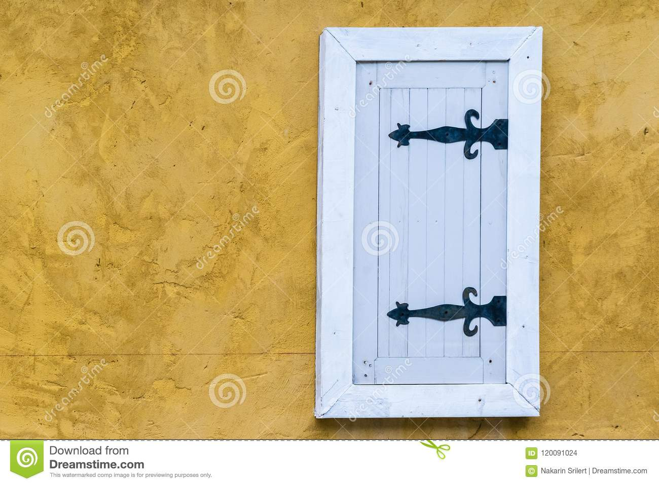 European-style Windows And Walls Beautiful. Stock Photo - Image of ...