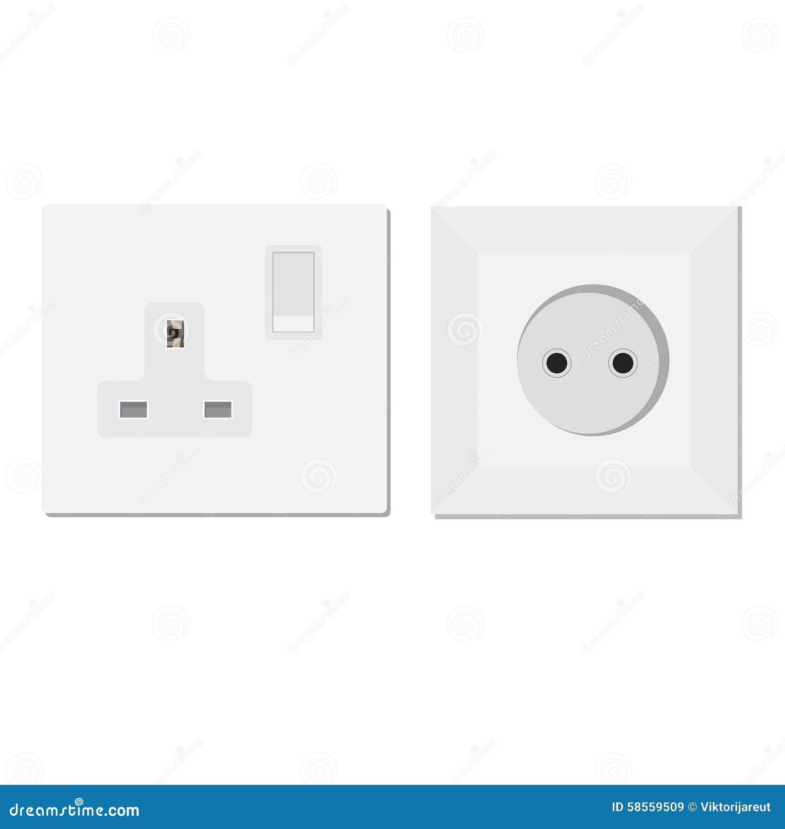 European and uk socket stock illustration illustration of european and uk socket electrical isolated buycottarizona Images