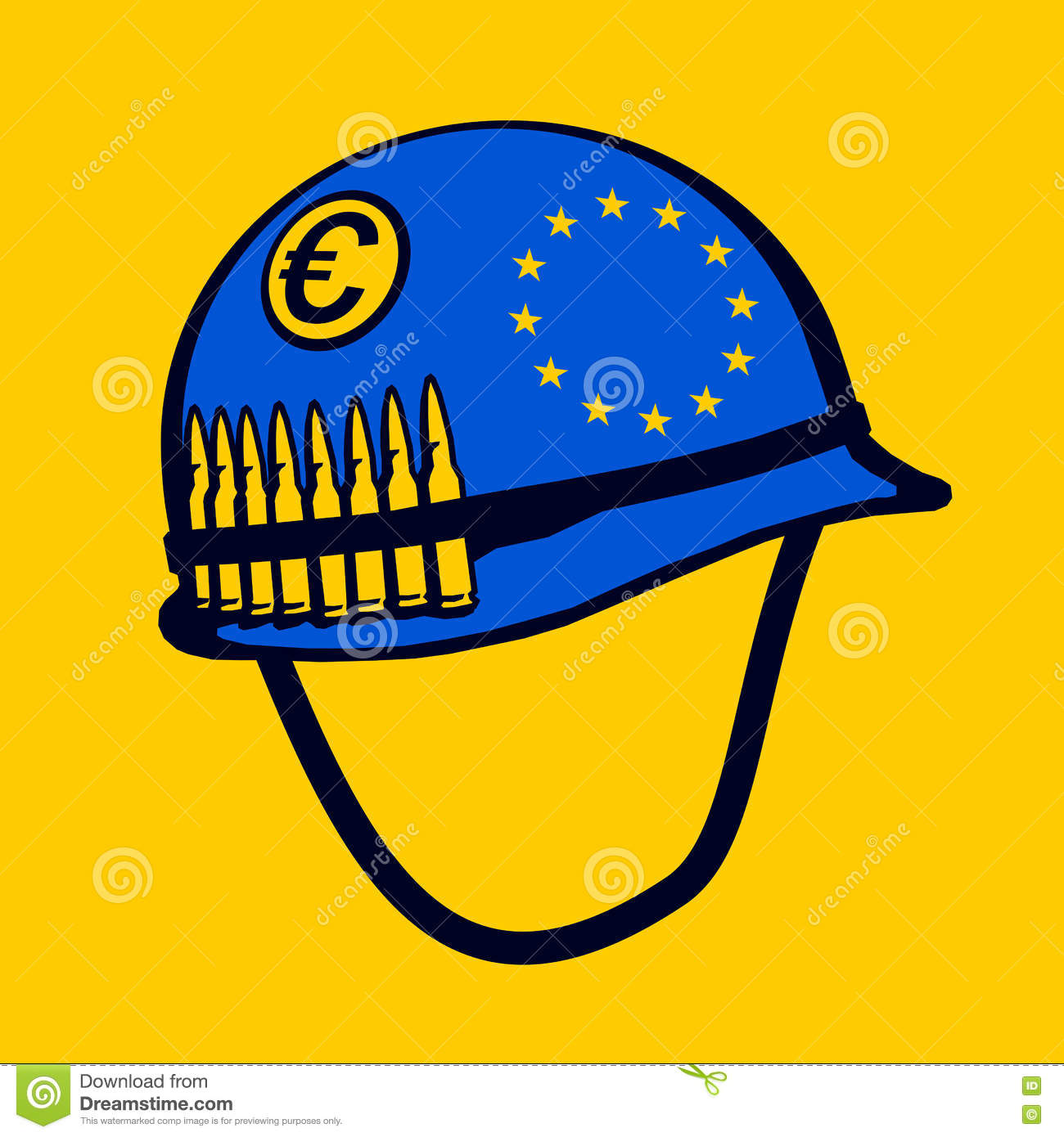 European Union Army Stock Vector Illustration Of Blue 77564650