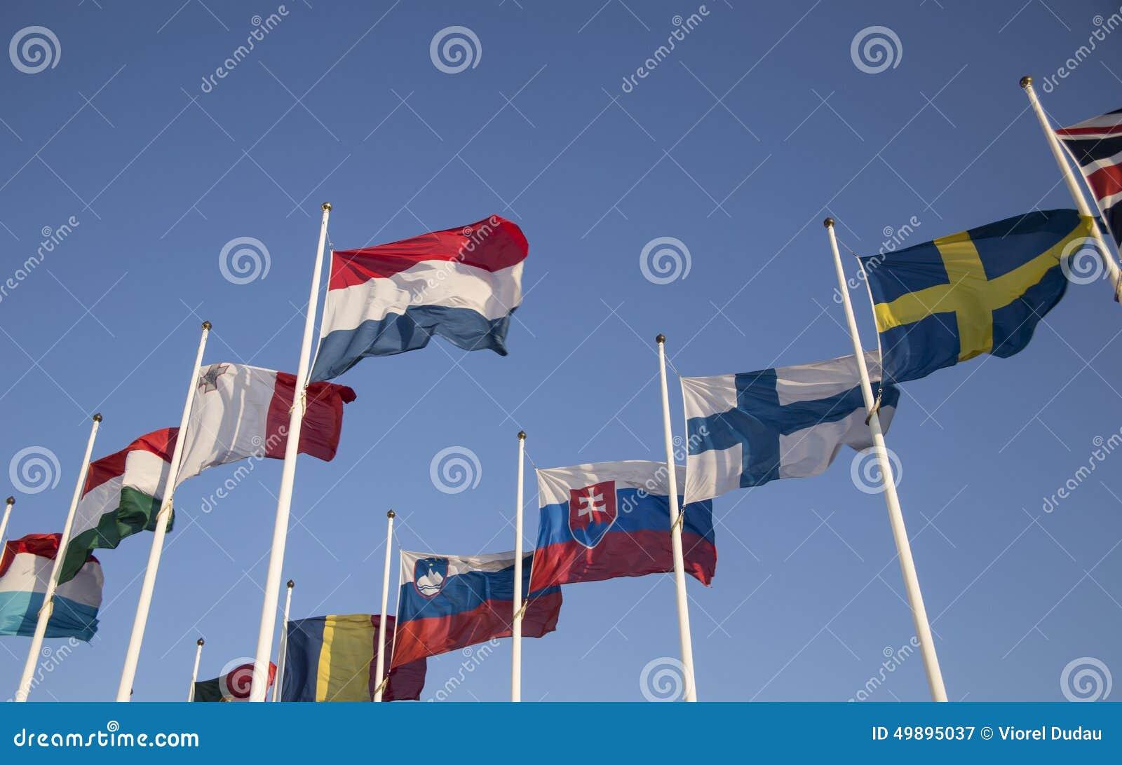 European Union countries flags