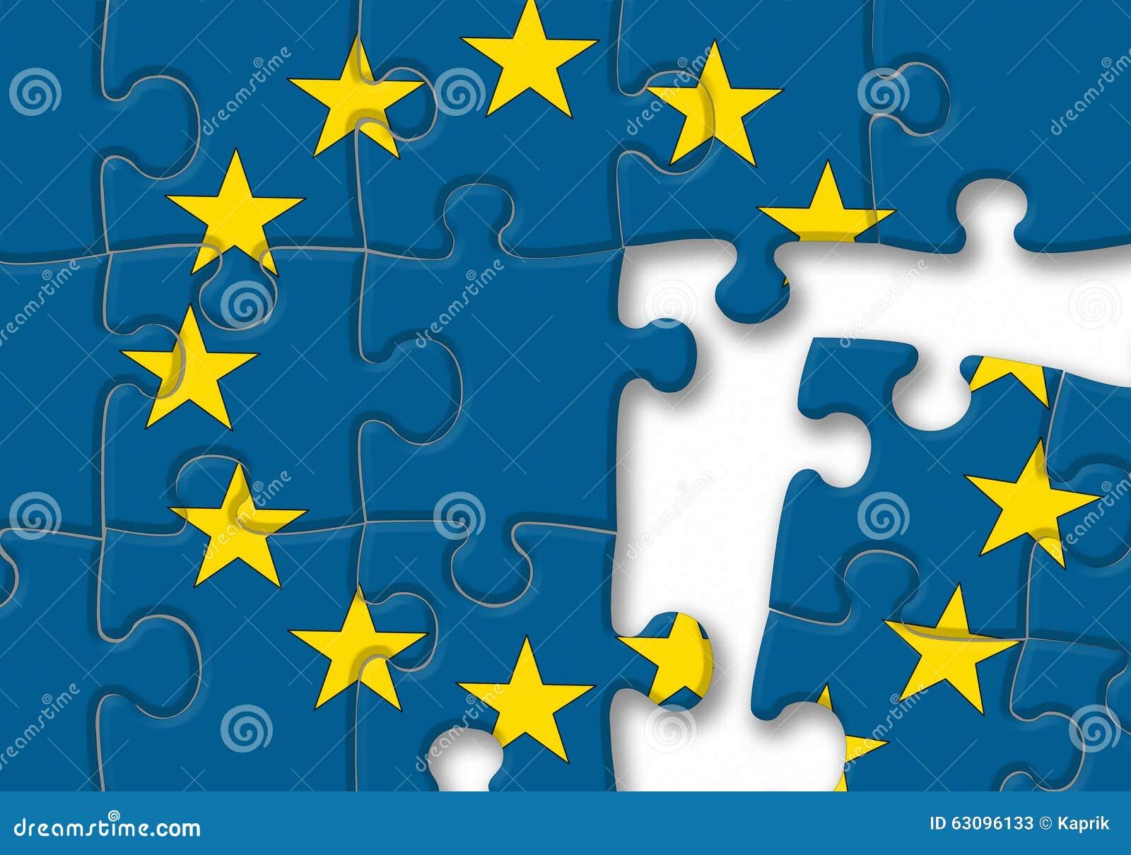 European Union EU Flag Puzzle On The White Background Stock ...