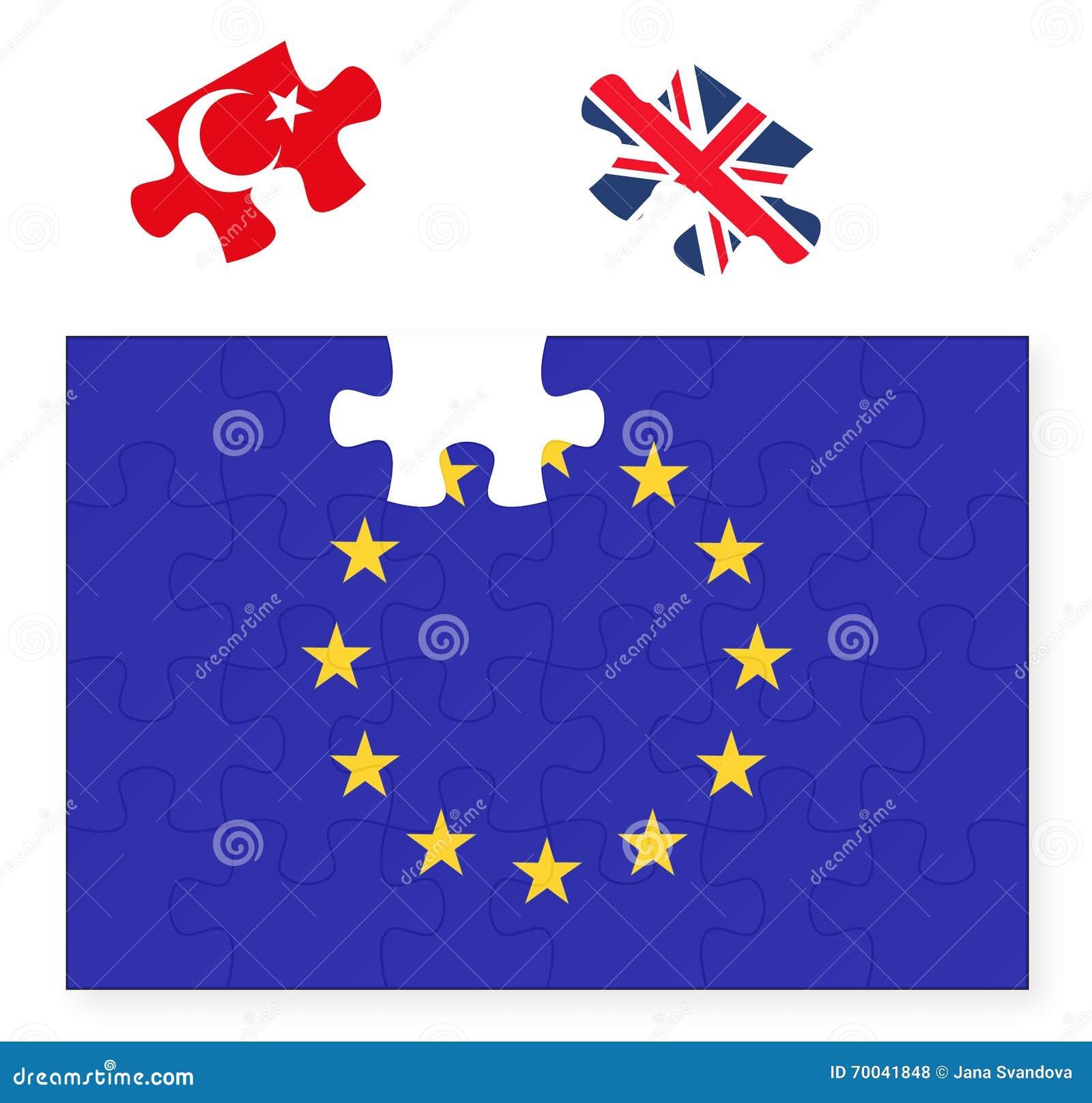 Uncategorized Turkey Puzzle european union flag missing united kingdom great britain jigsaw royalty free vector