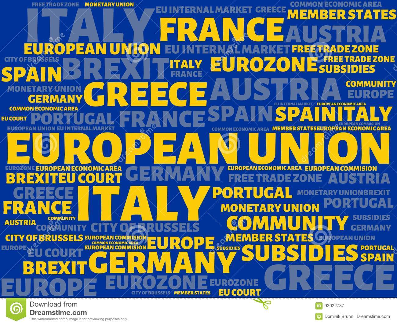 Image European Union Image With Wordsociated With The Topic European_union Word Cloud Cube Letter Image Il Ration