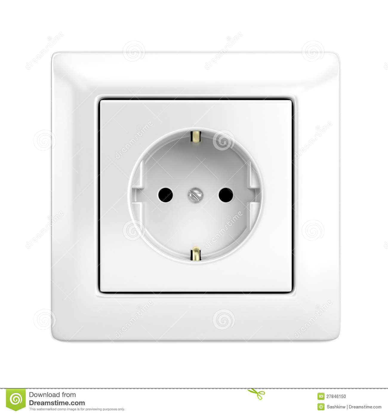 European wall outlet stock illustration. Illustration of close ...