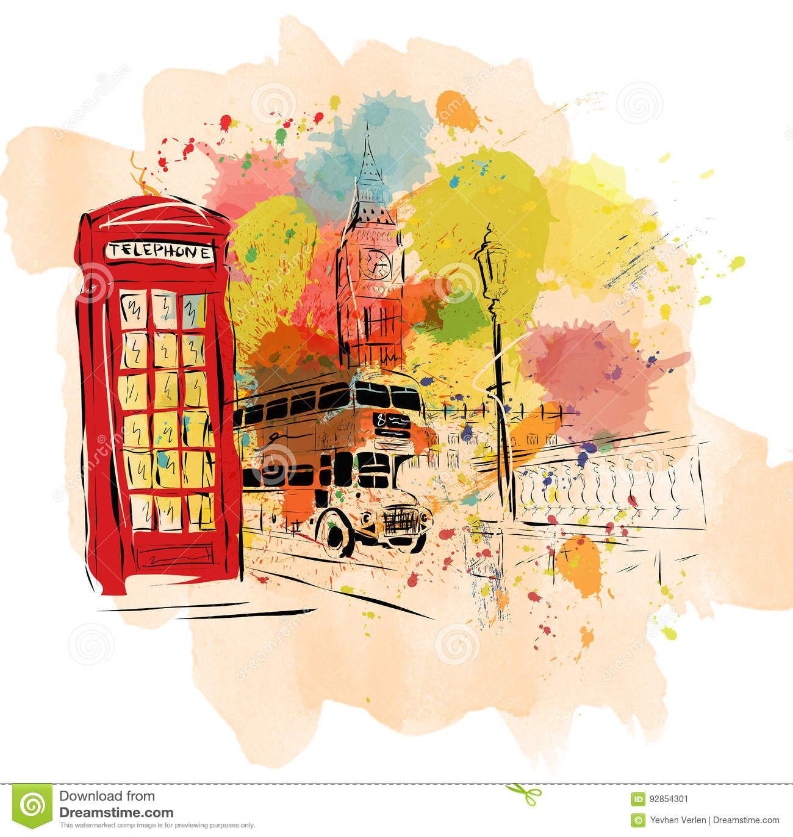 Europeisk huvudstad, skissar, London, modernistisk stil