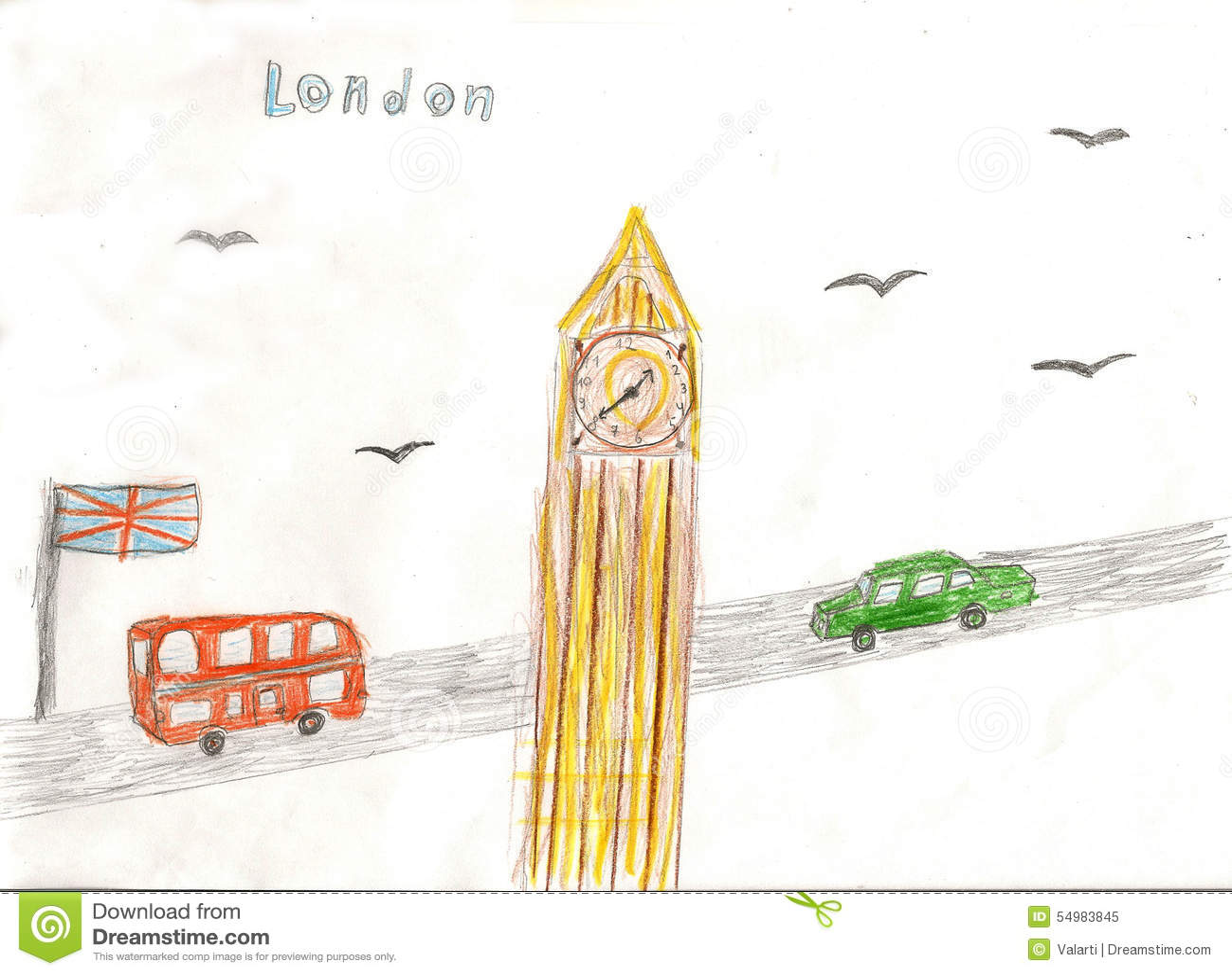 Europeisk huvudstad, skissar, London, modernistisk stil, bakgrund, c