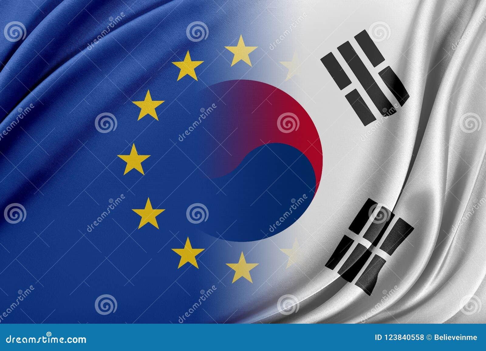 Europeisk södra union och Korea Begreppet av förhållandet mellan södra EU och Korea