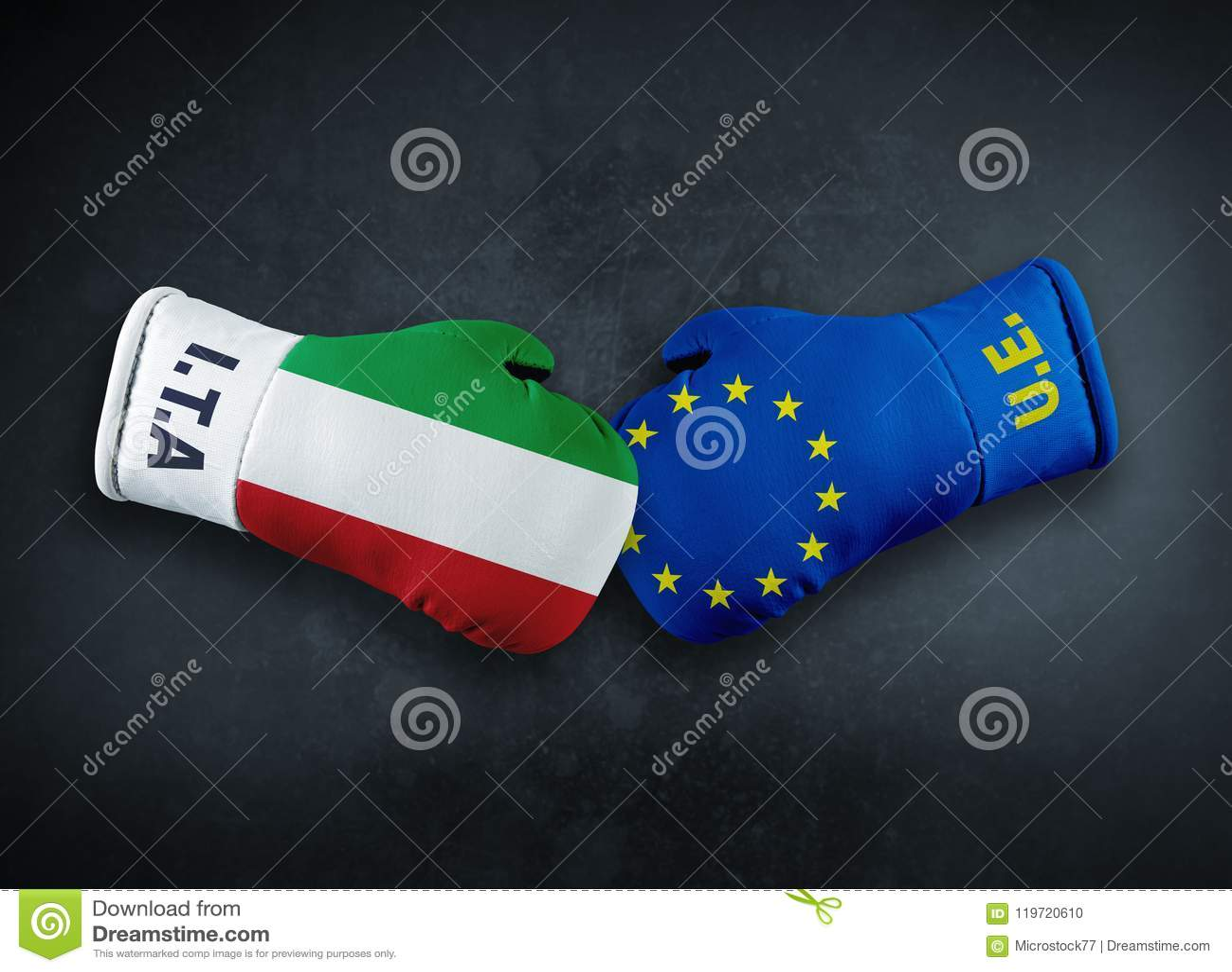Europeisk union vs Italien konfliktconpet