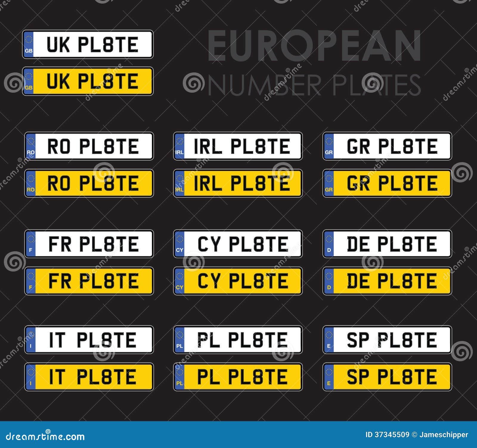 Europeiska registreringsskyltar