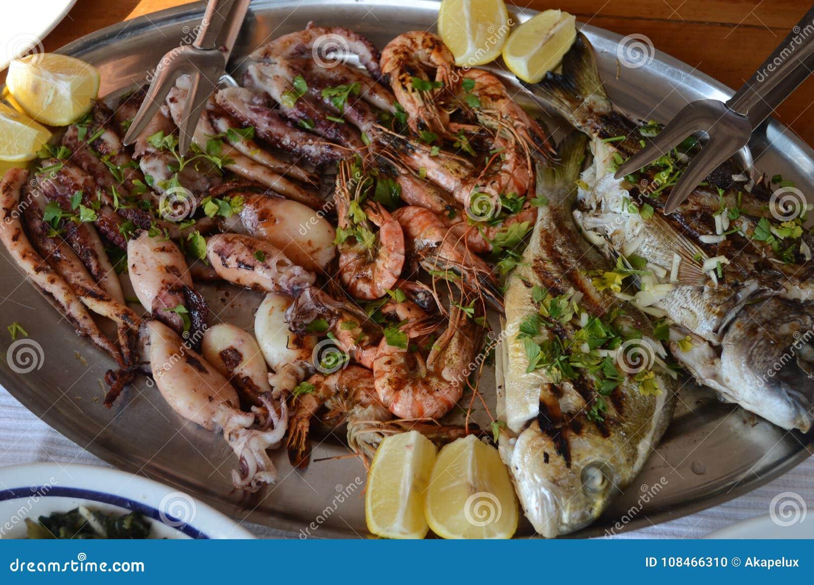 Europeiskt område Maträtt av medelhavs- skaldjur Delicius matställe