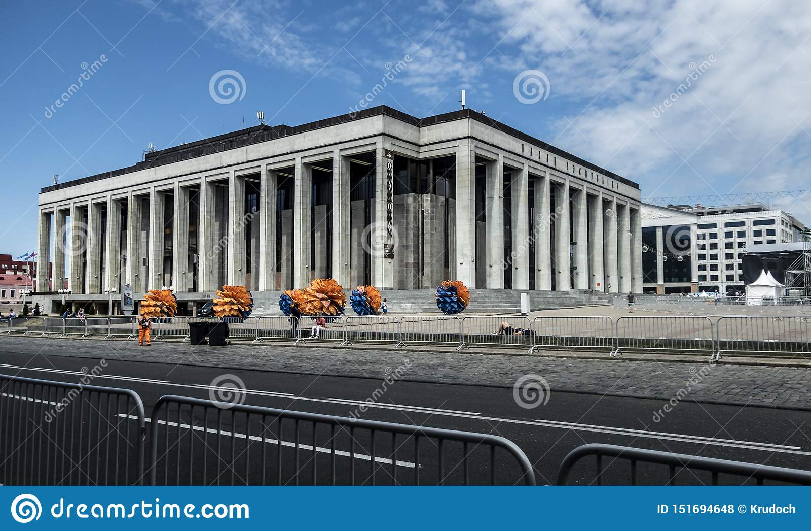 Europejski gry Minsk Białoruś architektury lata ulicy punkt zwrotny