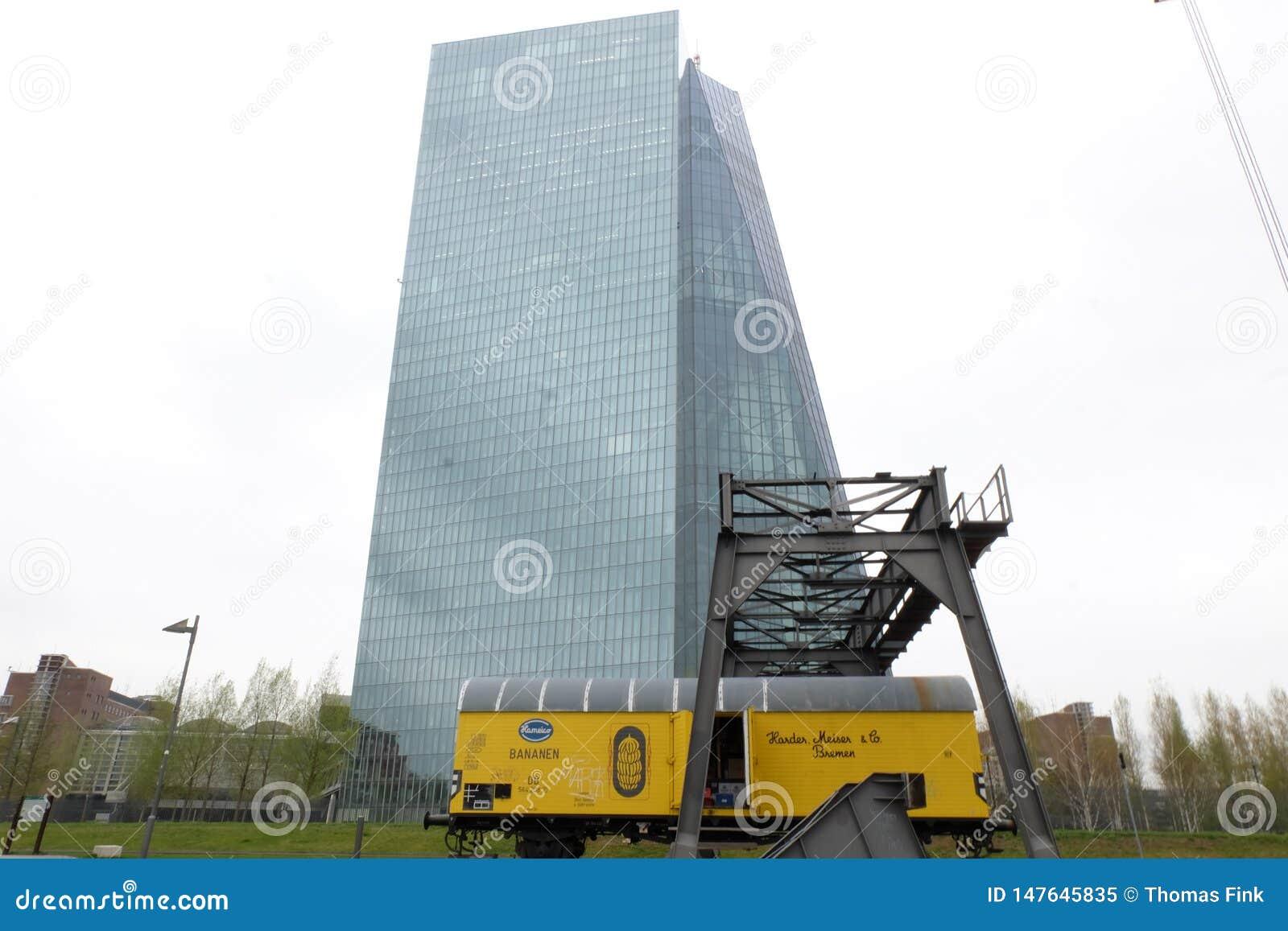 Europese Centrale Bankecb in Frankfurt