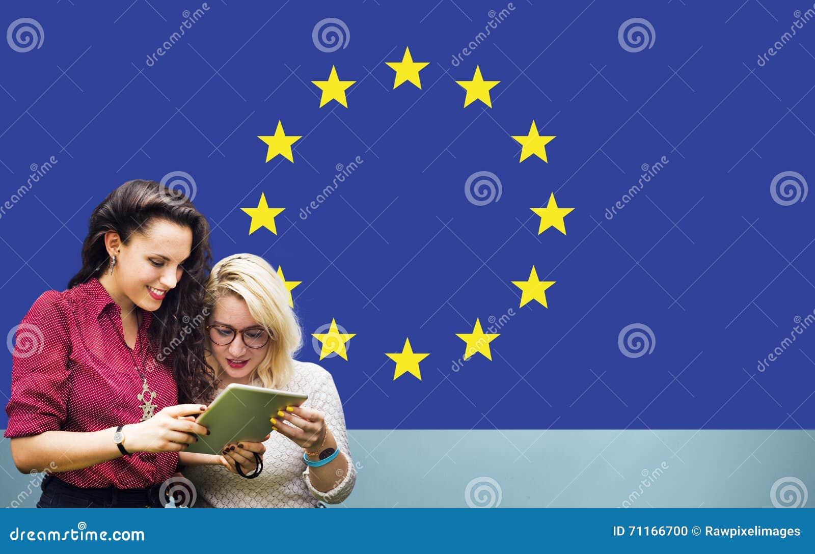 Europese Unie van de de Vlagnationaliteit van het Land de Cultuur Liberty Concept