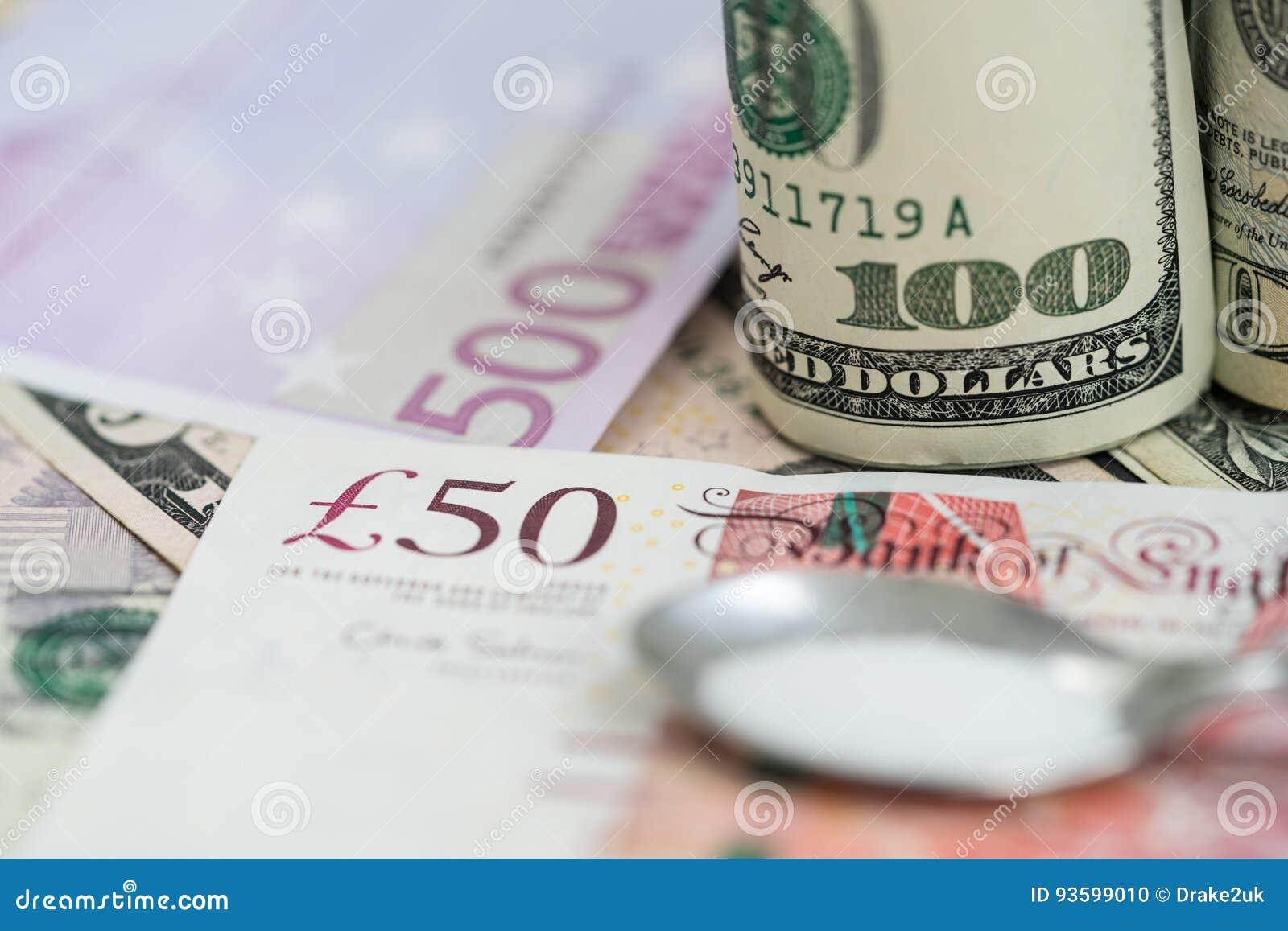 Euros, dólares e libras e drogas