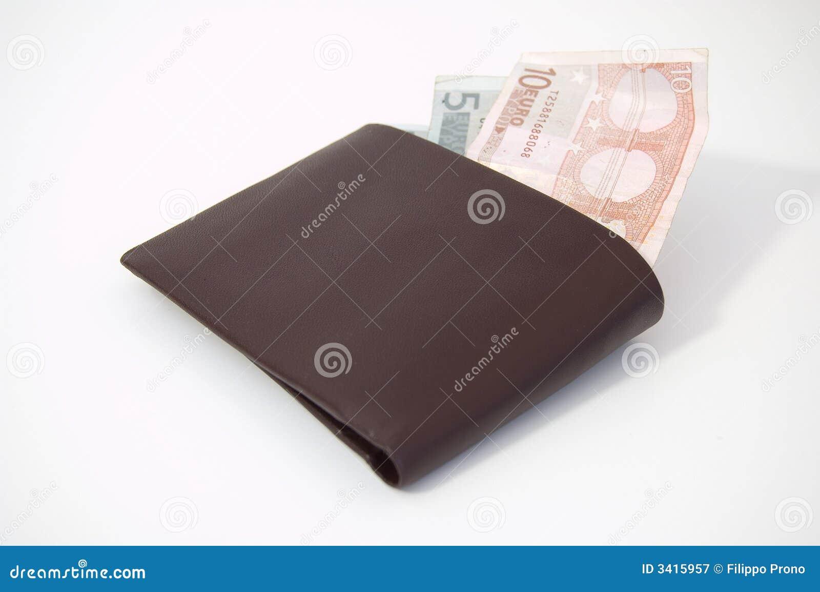 Euros en una carpeta