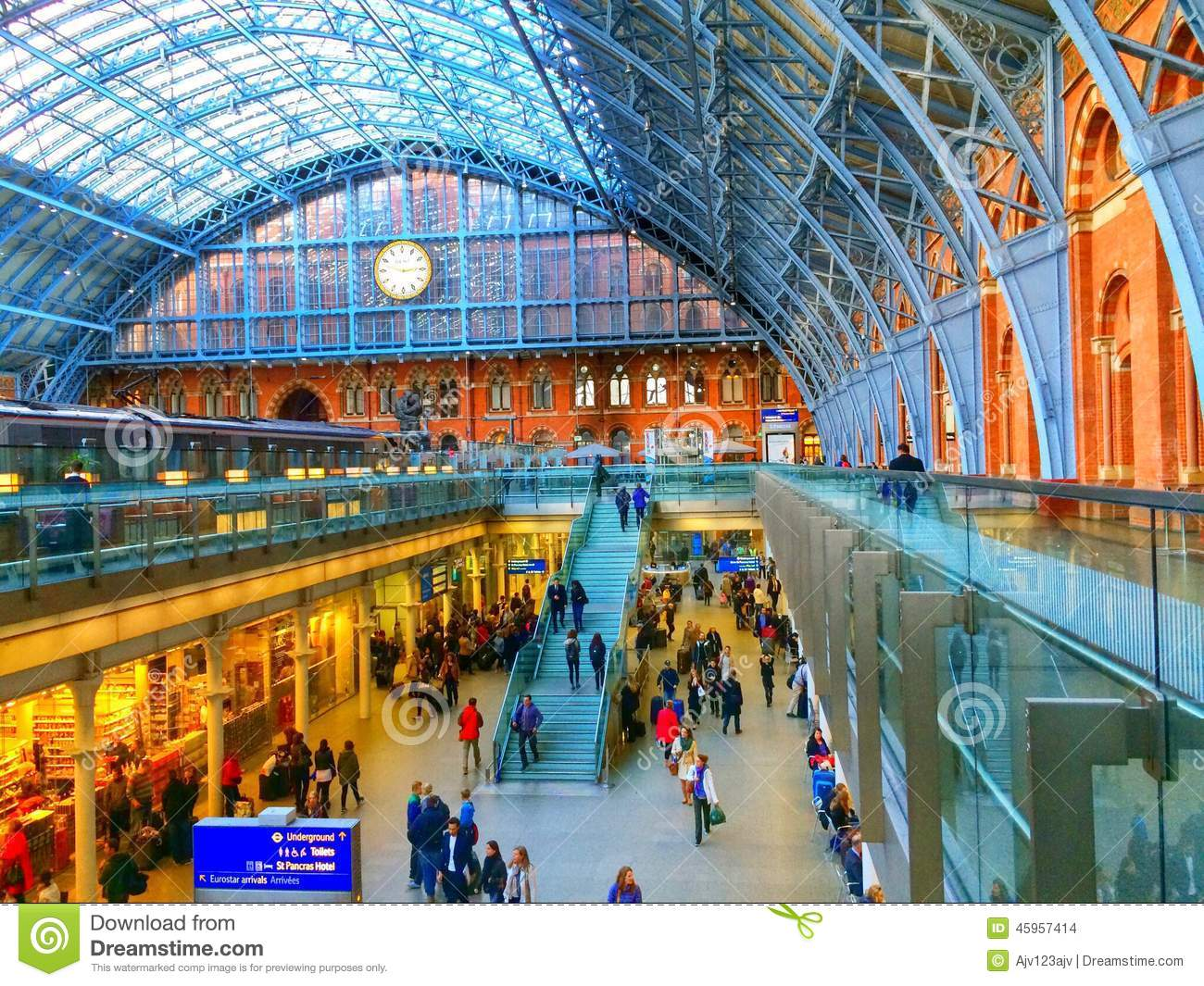 Eurostar St Pancras Internatioanl Railway Station