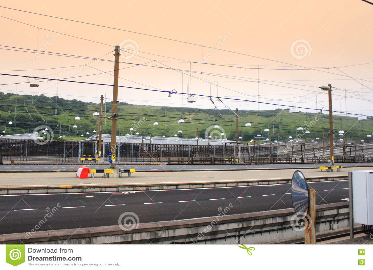 Eurotunnel Le Shuttle Service Station Folkestone Uk Stock Image