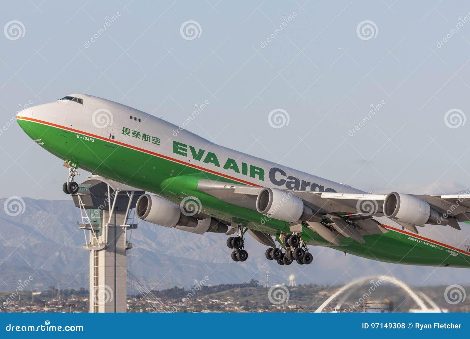 EVA Airways EVA Air Cargo Boeing 747 avions de cargaison décollant de l aéroport international de Los Angeles