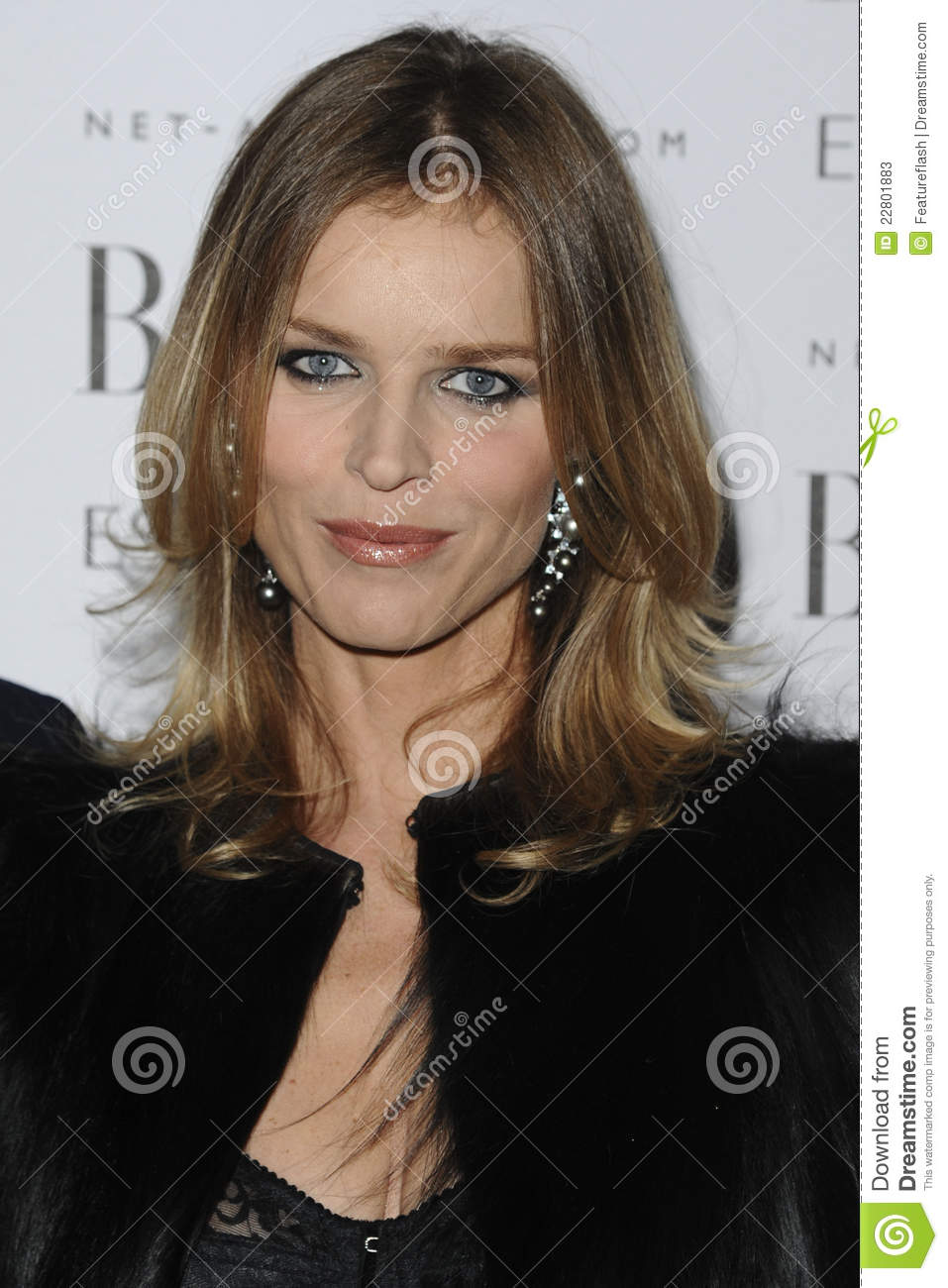Eva Herzigova editorial stock photo  Image of arriving