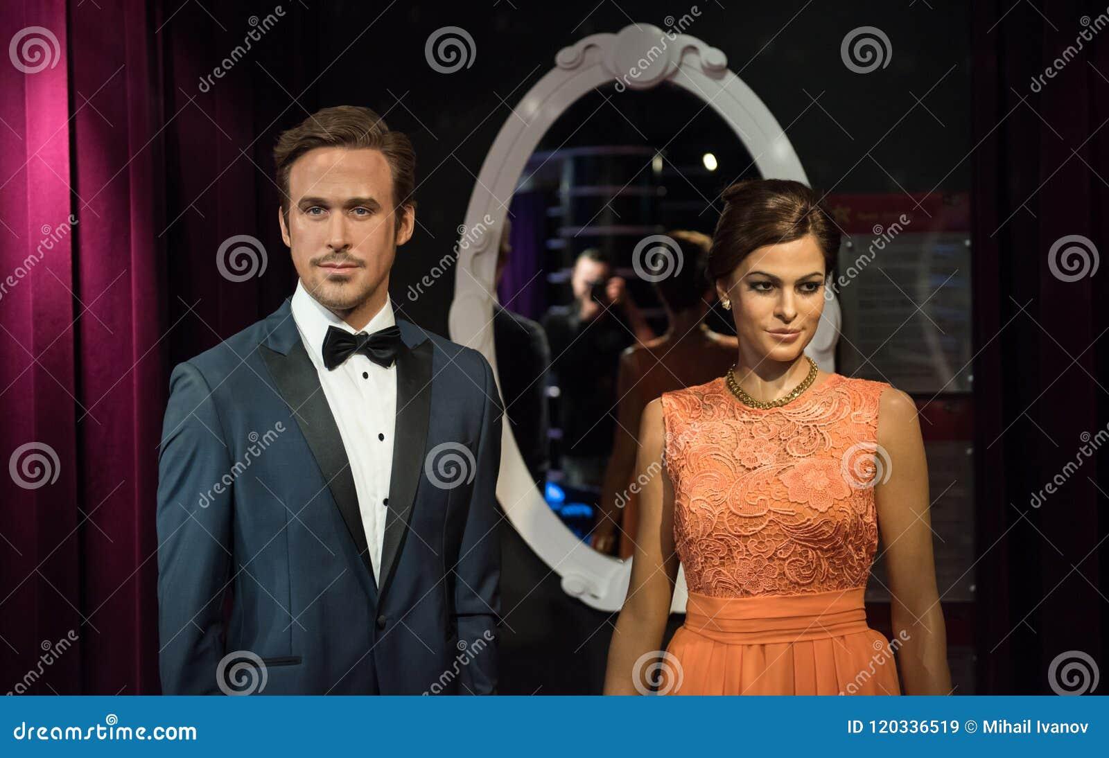 Eva Mendes et Ryan Gosling, sculpture en cire, Madame Tussaud